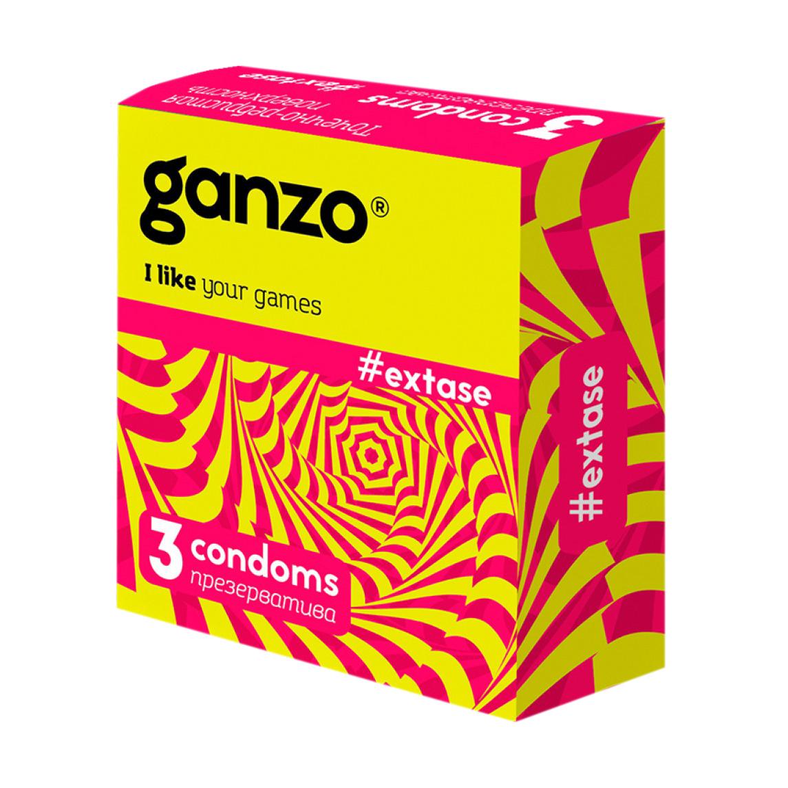 Презервативы Ganzo New Extase 3 шт