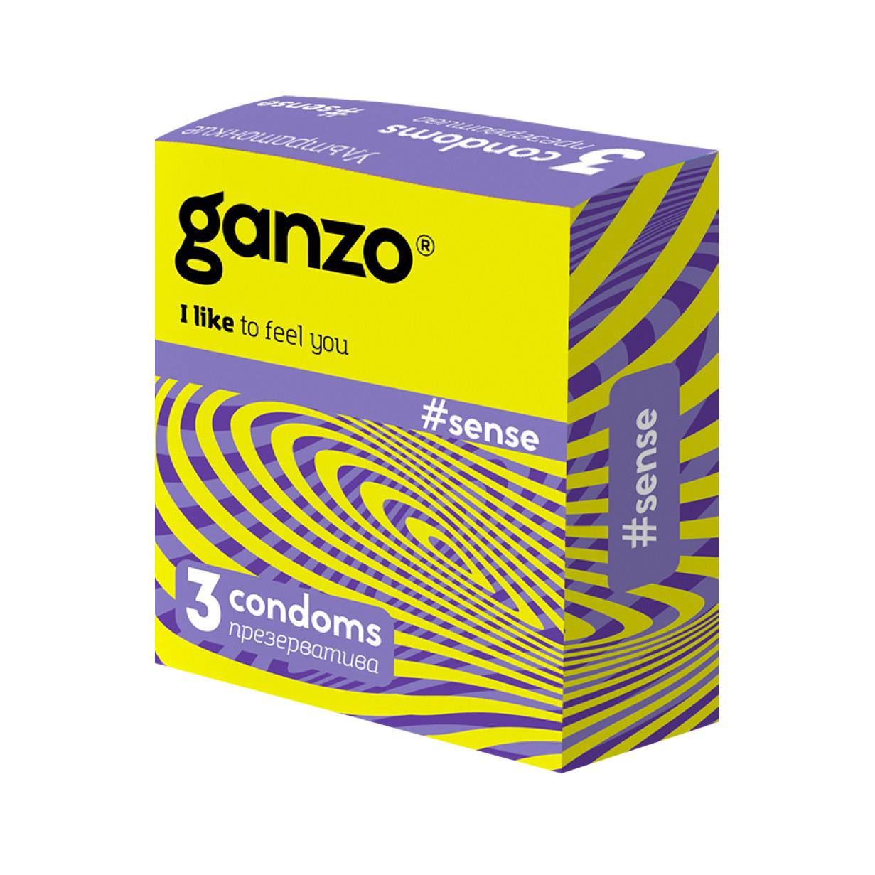 Презервативы Ganzo New Sense 3 шт