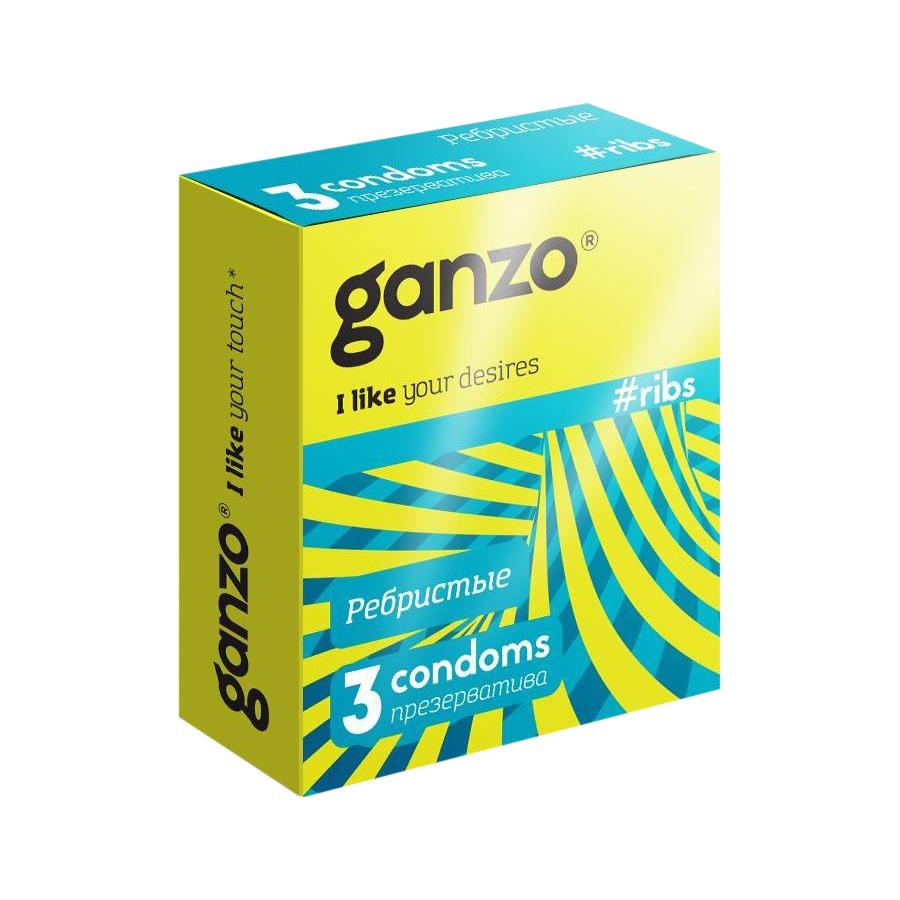 Презервативы Ganzo Ribs ребристые 3 шт недорого