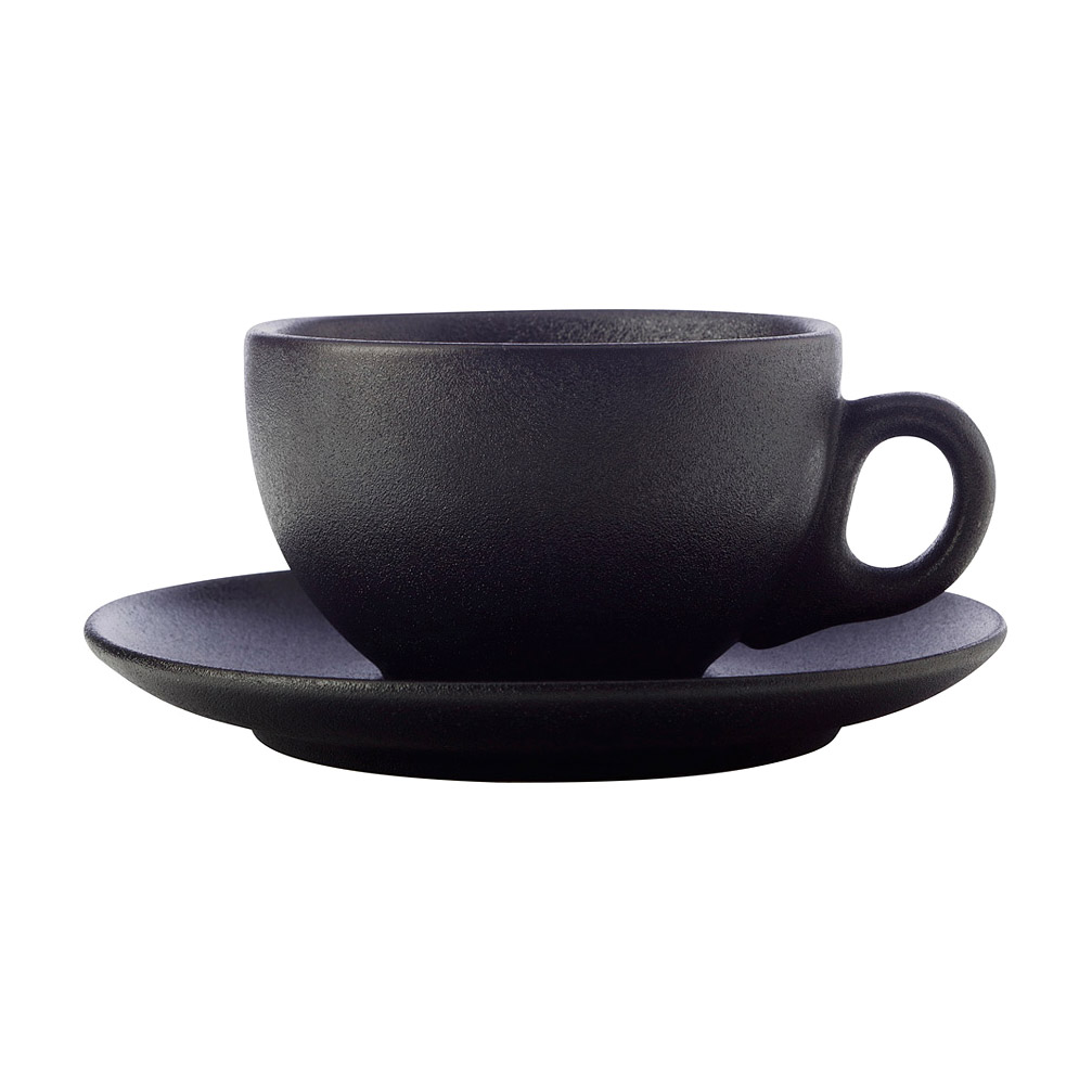 Чайная пара Maxwell & Williams Икра 250 мл черная