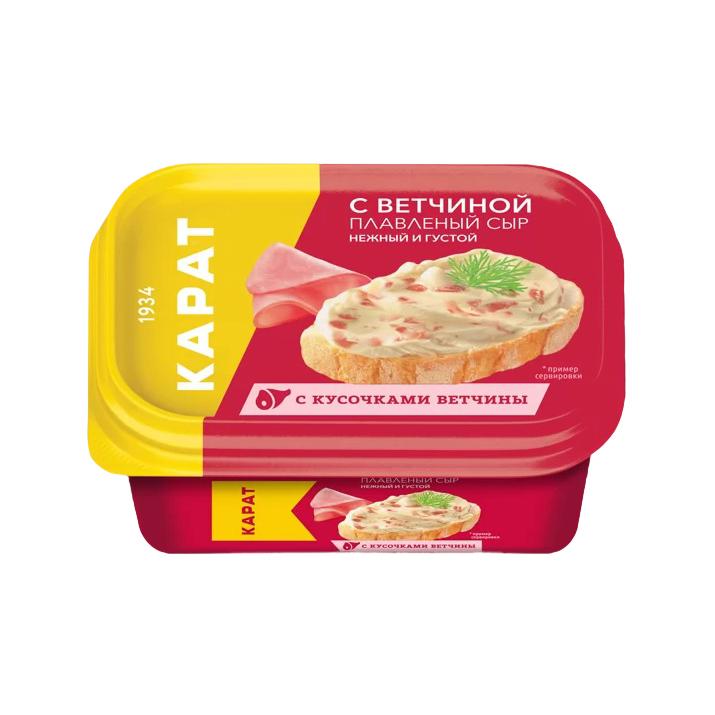 Сыр плавленый Карат с ветчиной 45% 400 г сыр плавленый карат янтарь 45% 400 г
