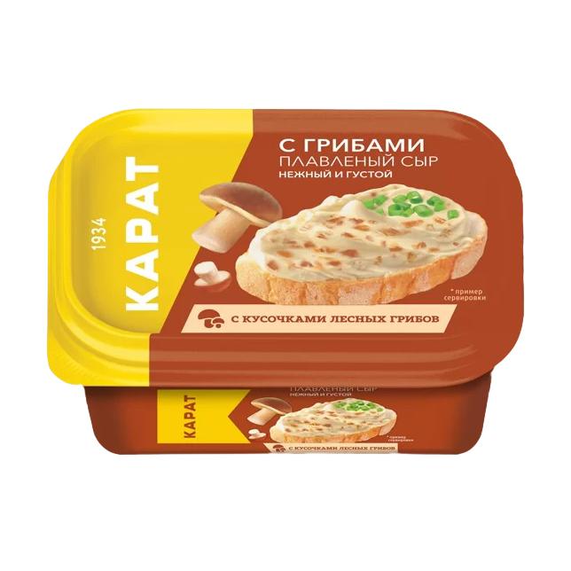 Сыр плавленый Карат с грибами 45% 400 г сыр плавленый карат янтарь 45% 400 г
