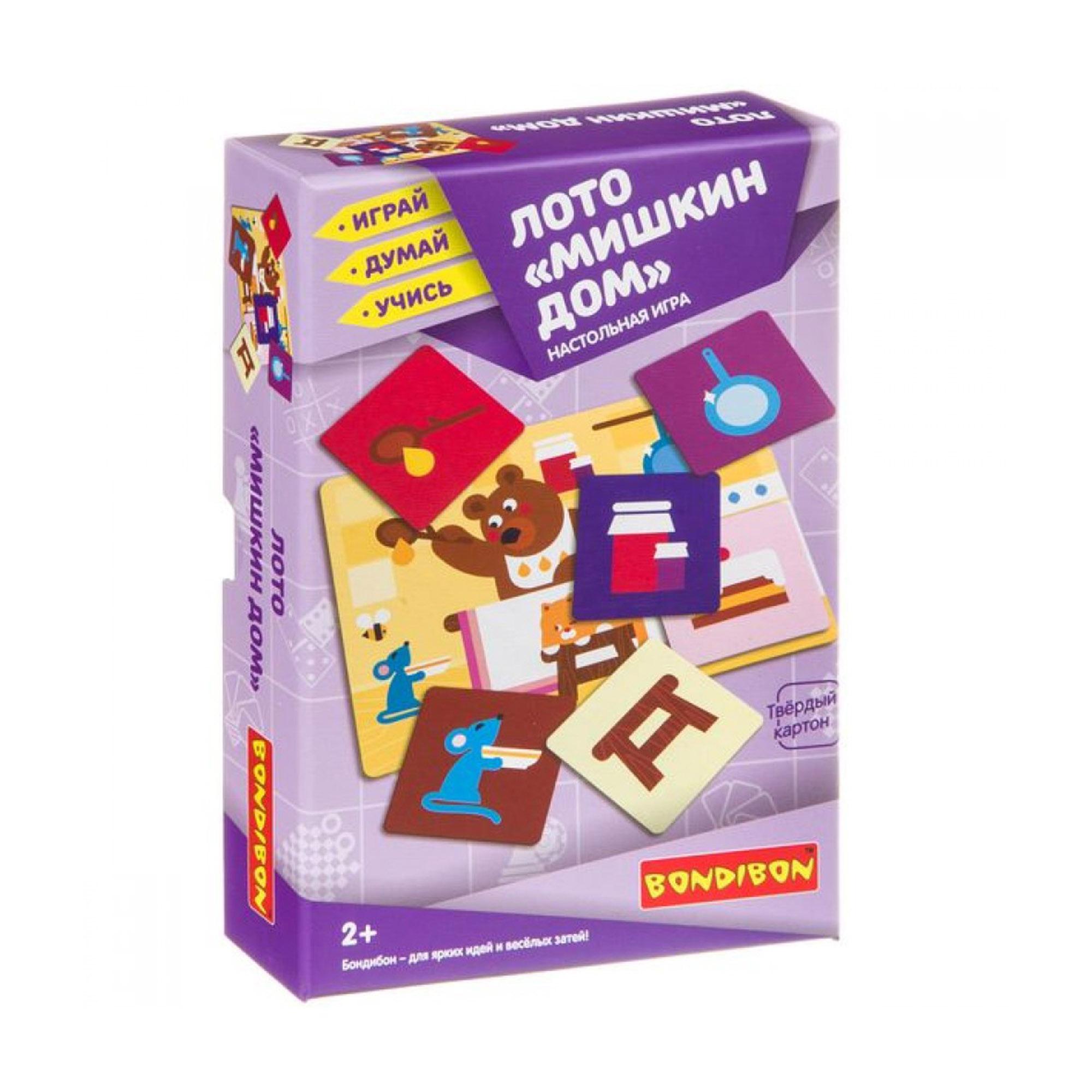 Настольная игра BONDIBON Лото Мишкин дом