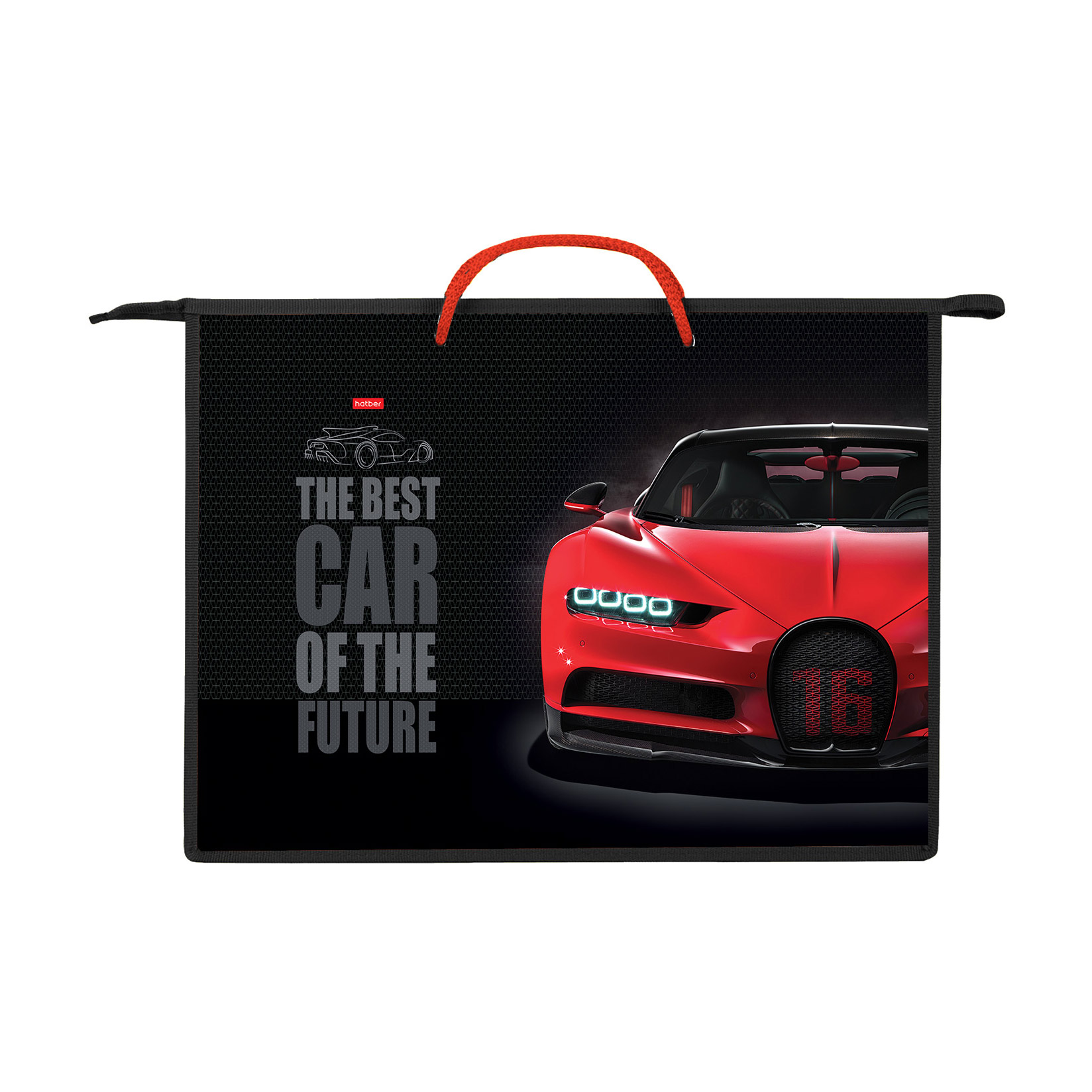 Папка для тетрадей на молнии А3 Hatber Best car 1 отделение с ручками недорого