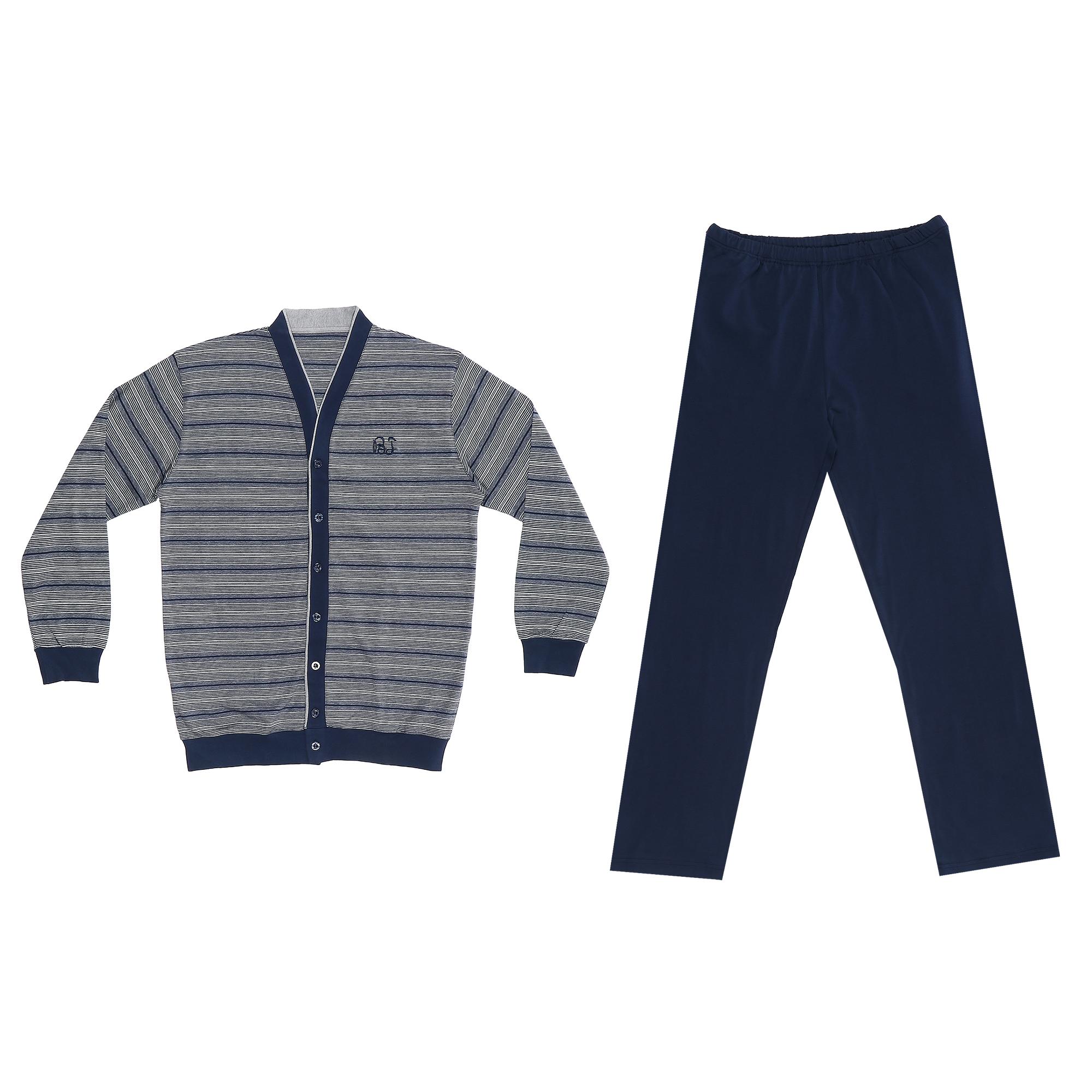 комплект домашний мужской vienetta s secret league капри футболка цвет сапфировый 711124 3286 размер 50 xl Домашний мужской костюм Xiamen Honesty MP-126 синий XL