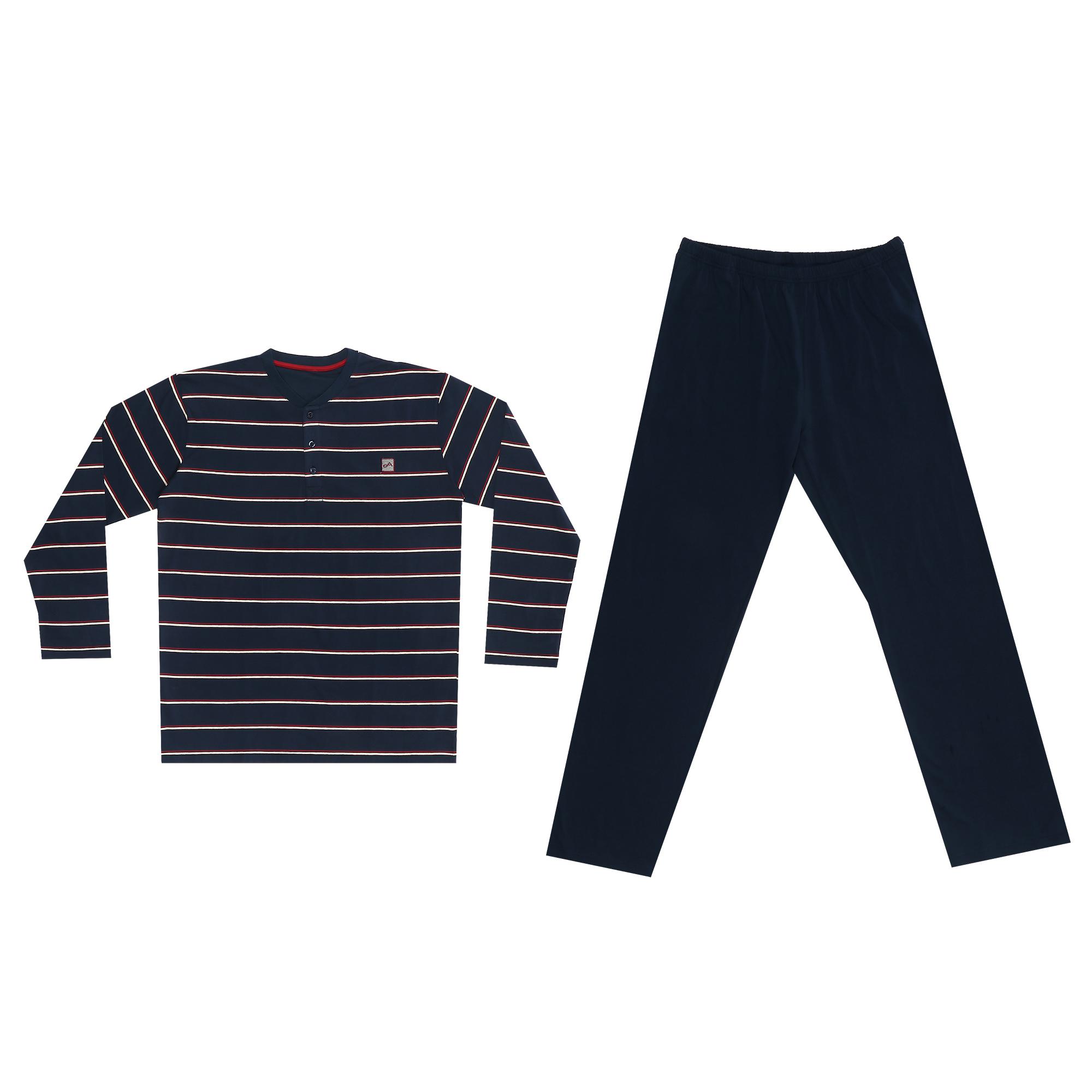комплект домашний мужской vienetta s secret league капри футболка цвет сапфировый 711124 3286 размер 50 xl Домашний мужской костюм Xiamen Honesty MP-129 синий XL