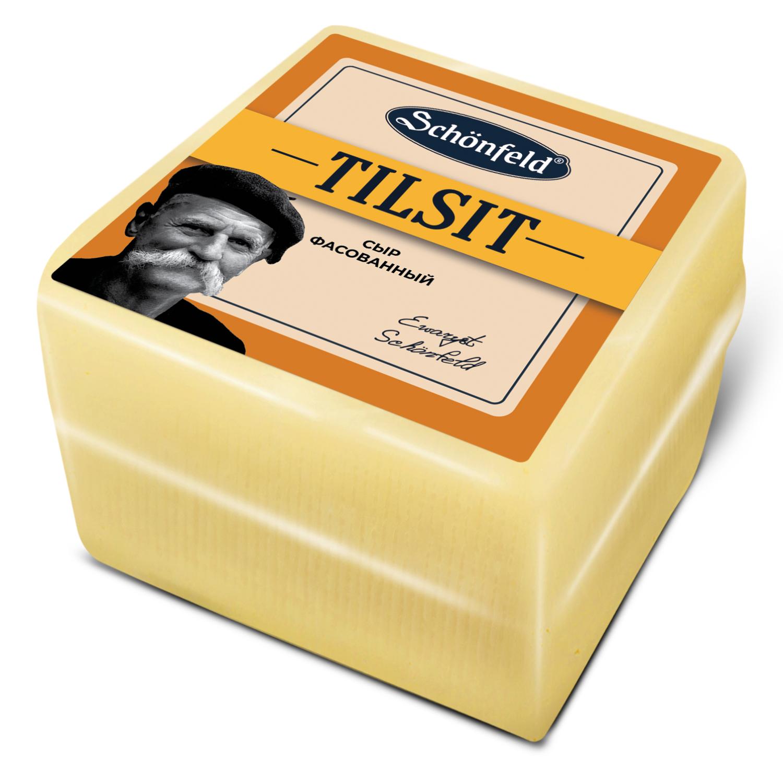 Фото - Сыр полутвердый Schonfeld Тильзитер 45% кг сыр полутвердый воскресенское подворье тильзитер 45
