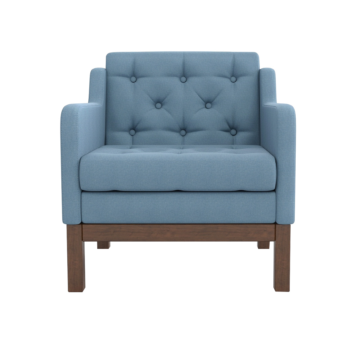 Кресло AS Алана 75.5x82x83 орех/голубой недорого