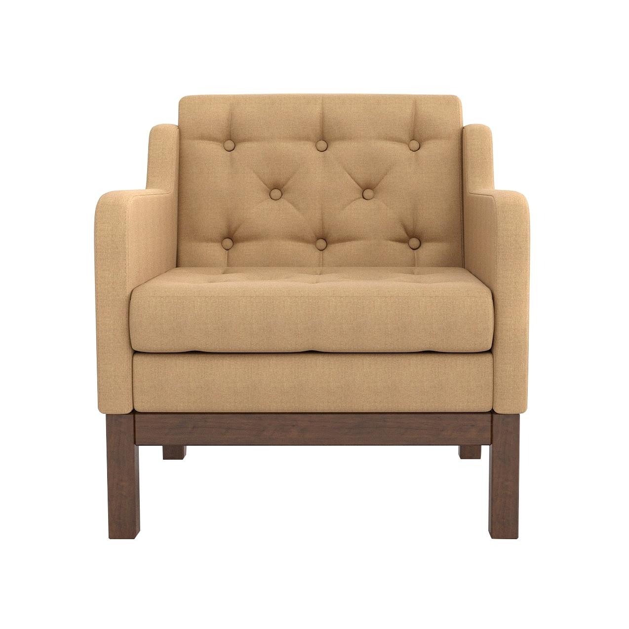 Кресло AS Алана 75.5x82x83 орех/бежевый фото