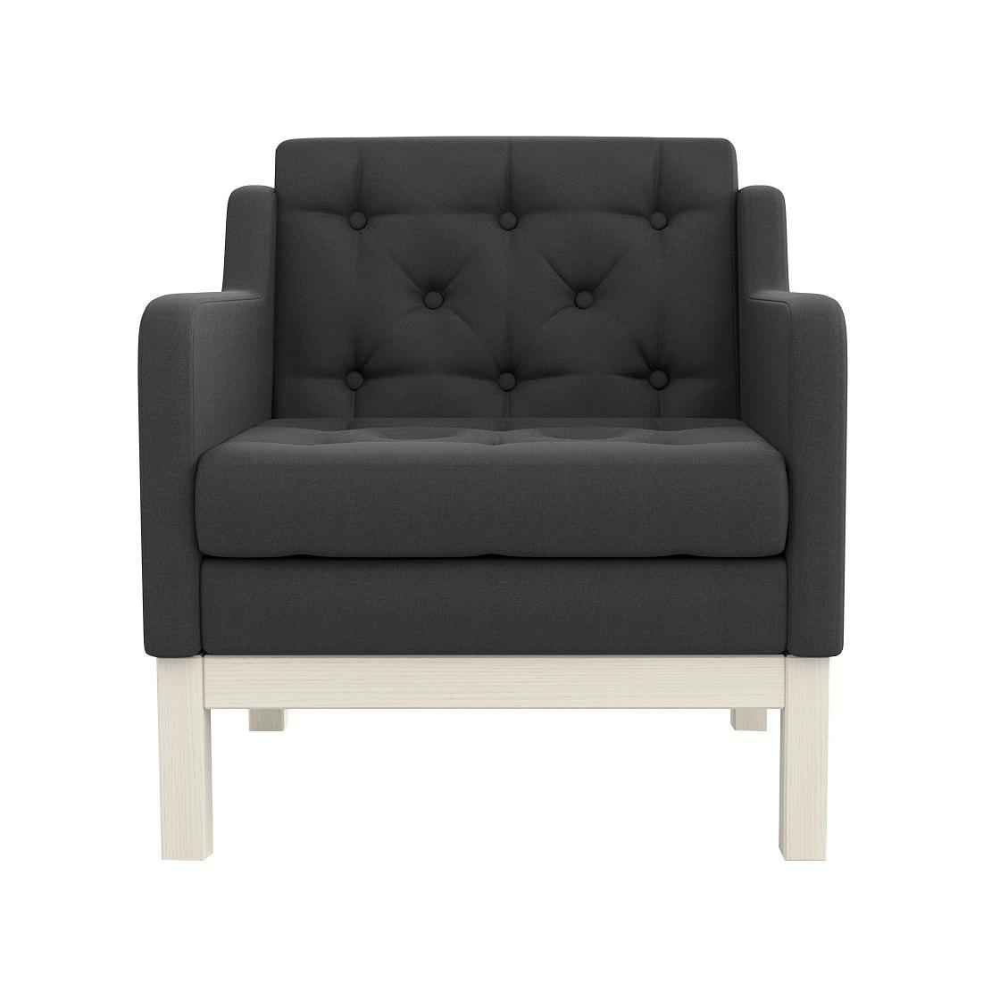 Фото - Кресло AS Алана 75.5x82x83 беленый дуб/черный диван as алана м 154x82x83 беленый дуб белый