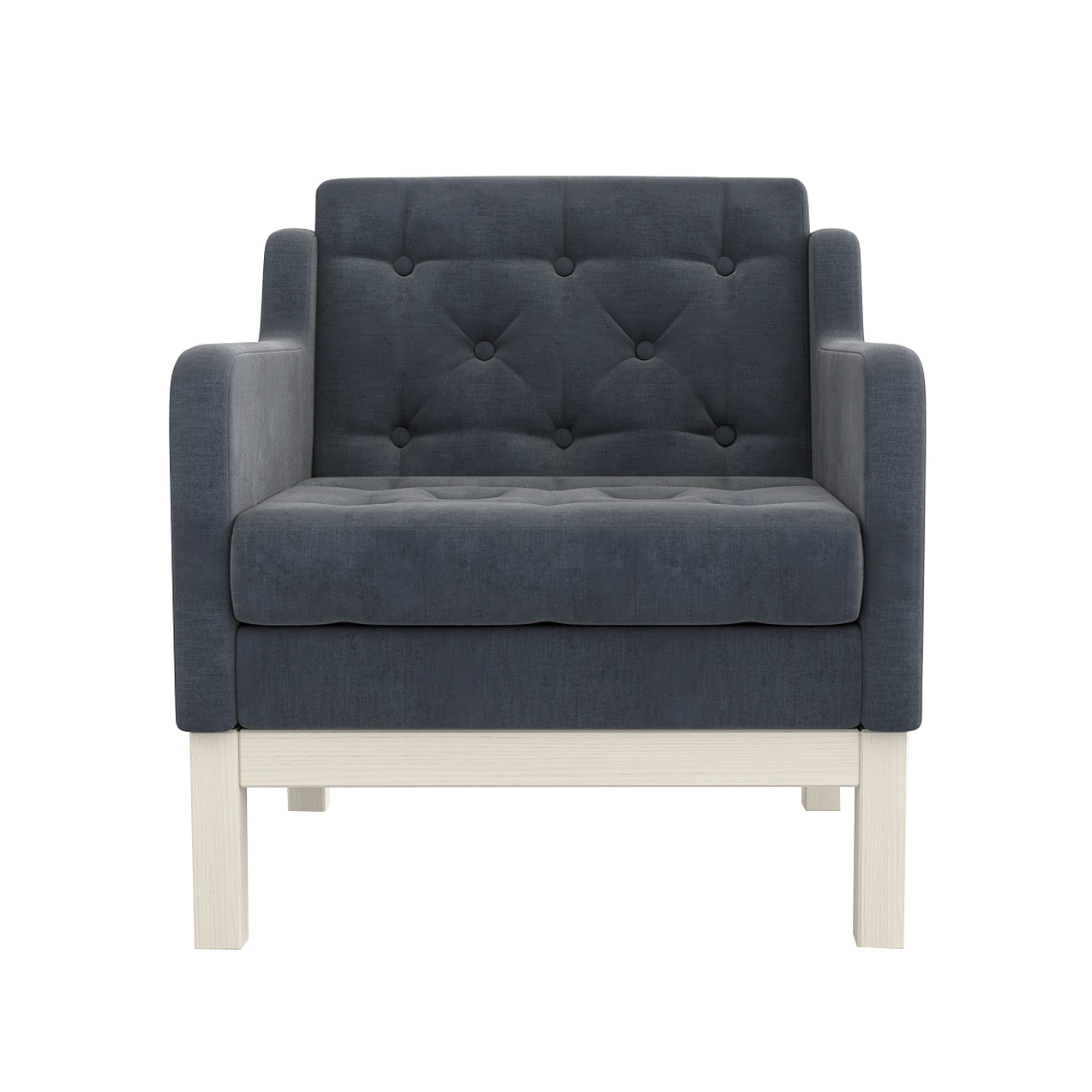 Фото - Кресло AS Алана 75.5x82x83 беленый дуб/серый диван as алана м 154x82x83 беленый дуб белый