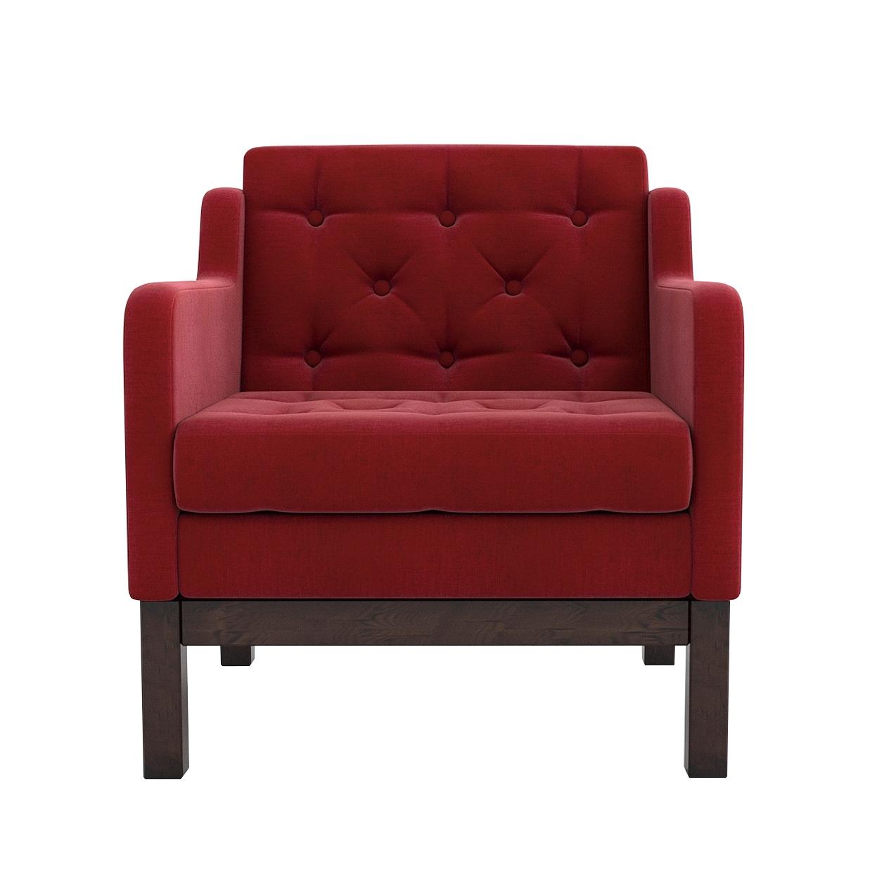 Кресло AS Алана 75.5x82x83 венге/красный недорого