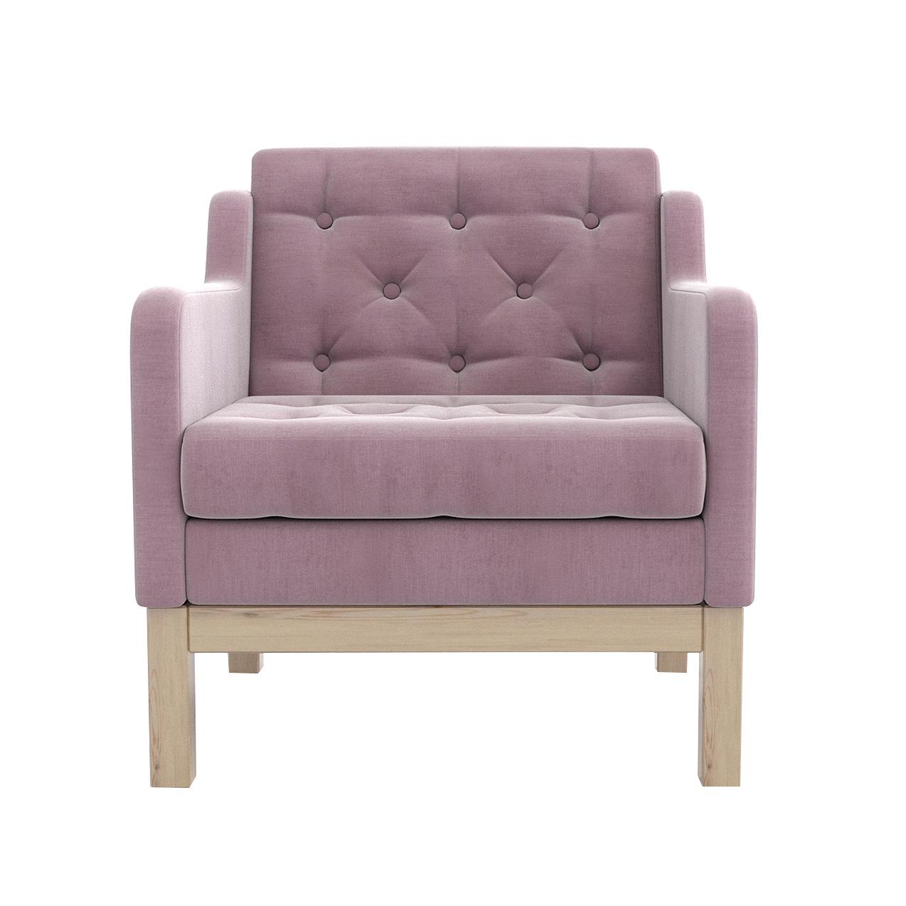 Кресло AS Алана 75.5x82x83 сосна/розовый недорого