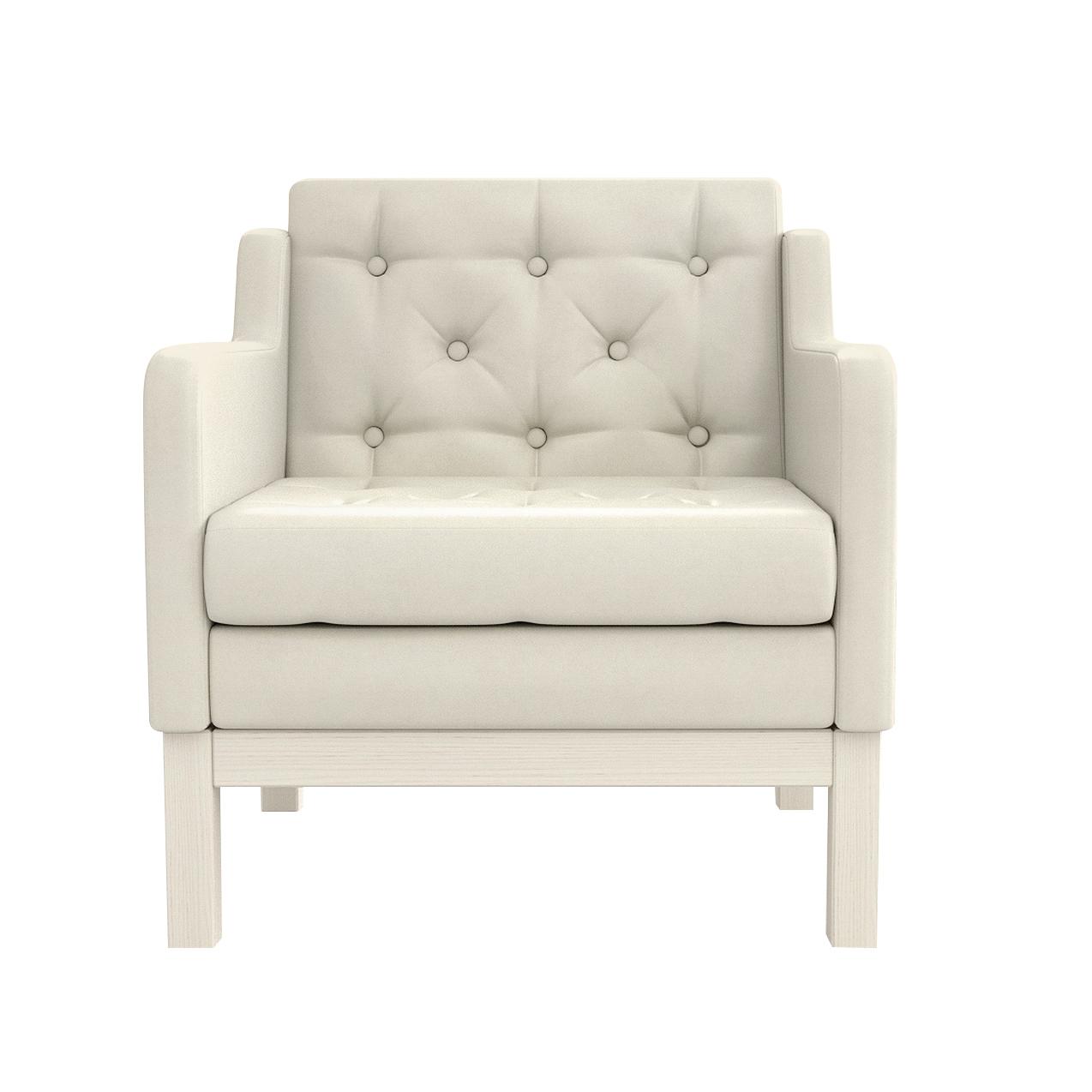 Фото - Кресло AS Алана 75.5x82x83 беленый дуб/белый диван as алана м 154x82x83 беленый дуб белый