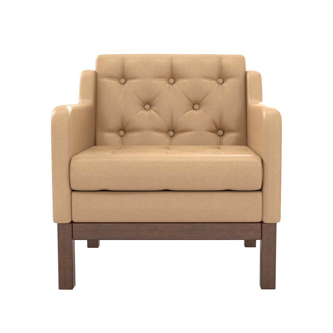 Кресло AS Алана 75.5x82x83 орех/кремовый недорого