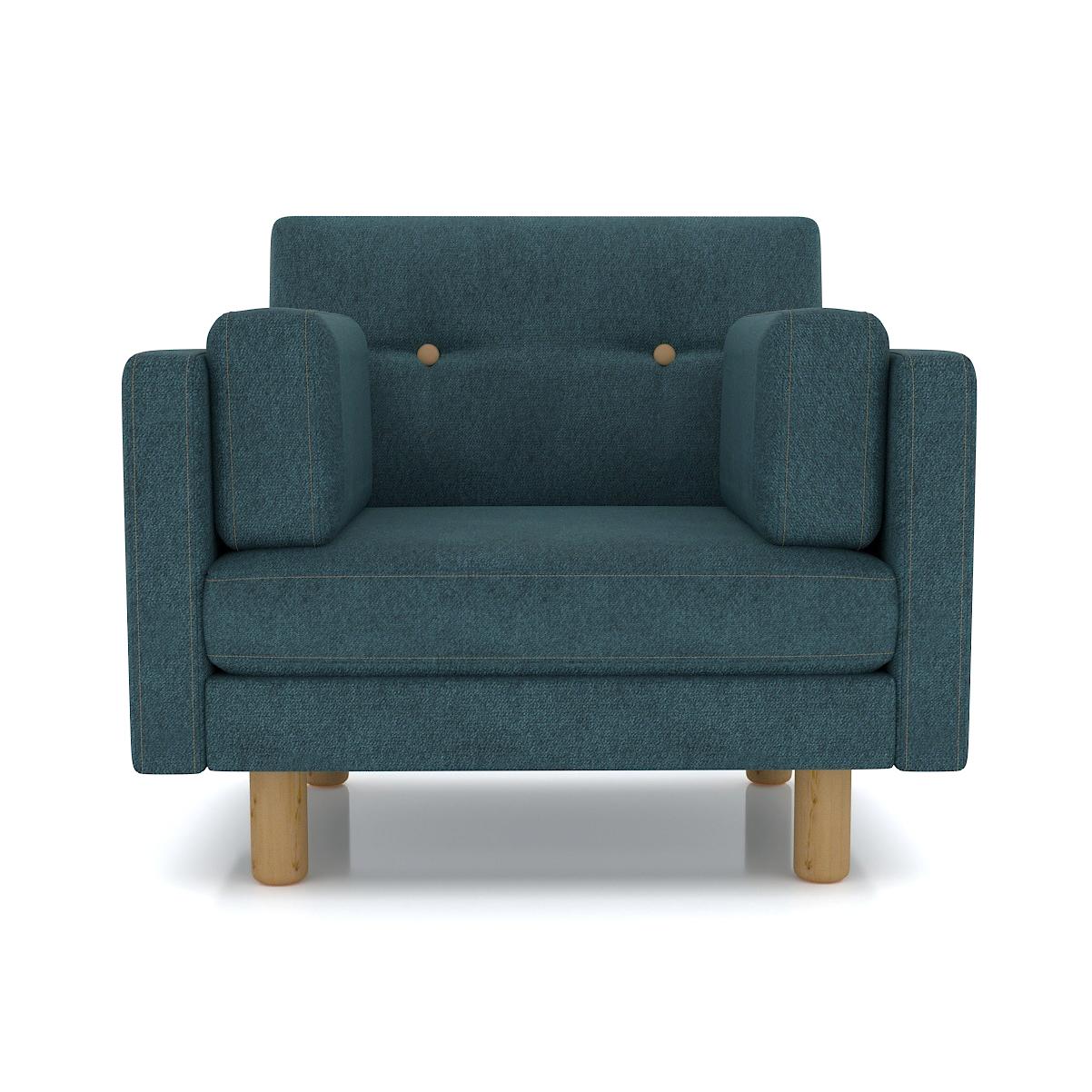 Кресло AS Изабелла м 90x80x83 голубой диваны