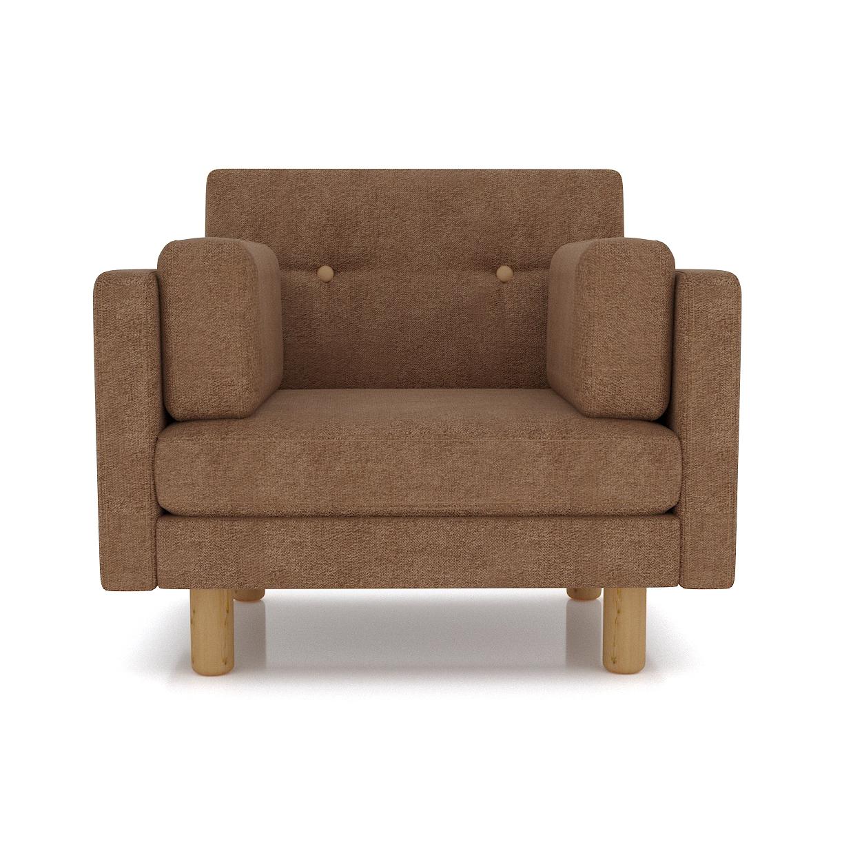 Кресло AS Изабелла м 90x80x83 коричневый