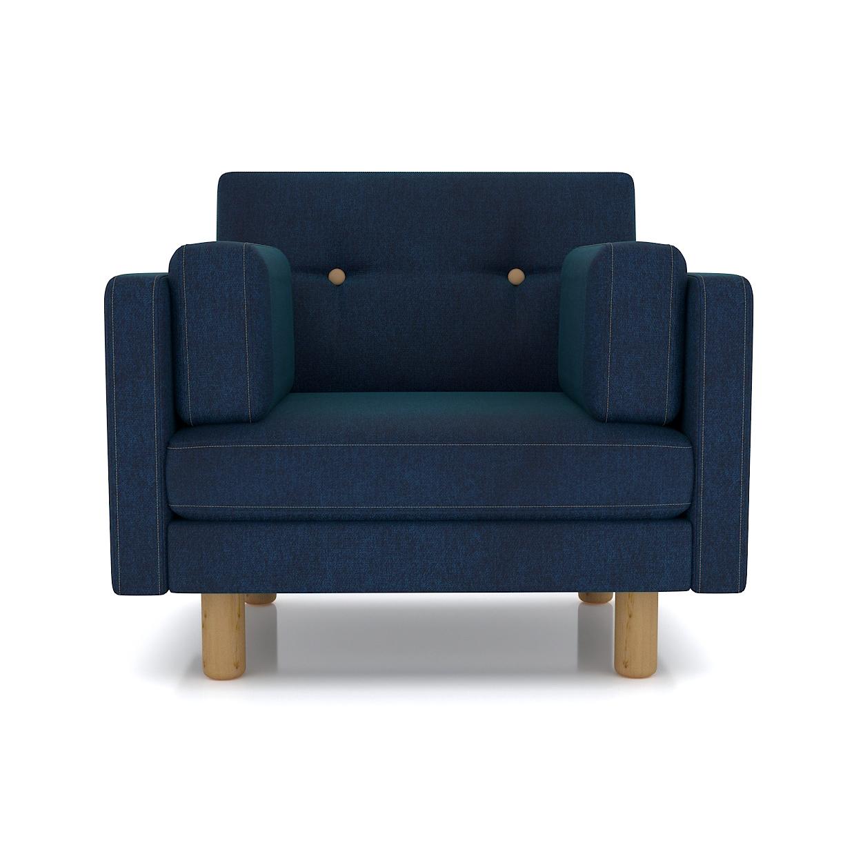 Кресло AS Изабелла м 90x80x83 синий