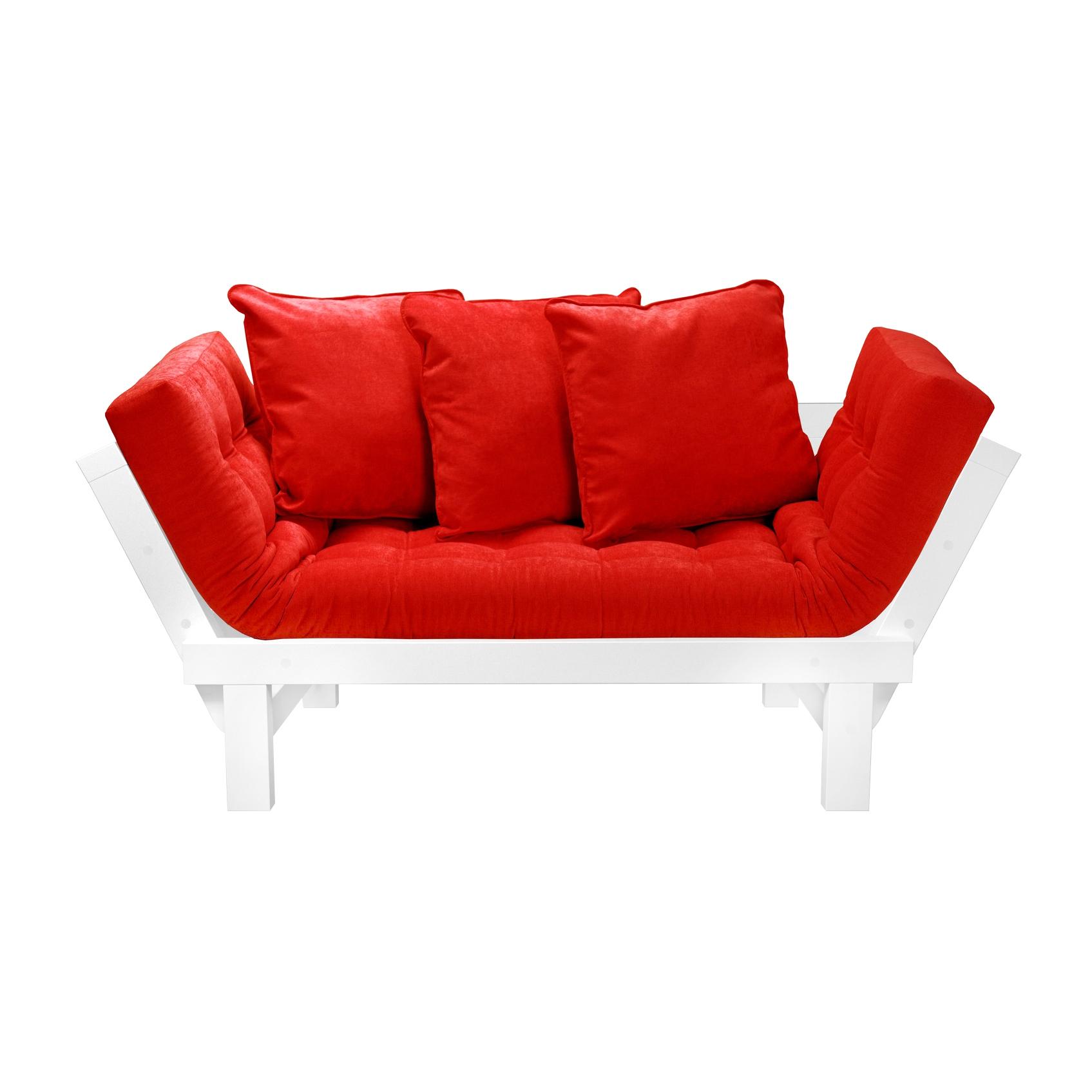 Кушетка AS Санди 158x77x61 белый/красный кушетки
