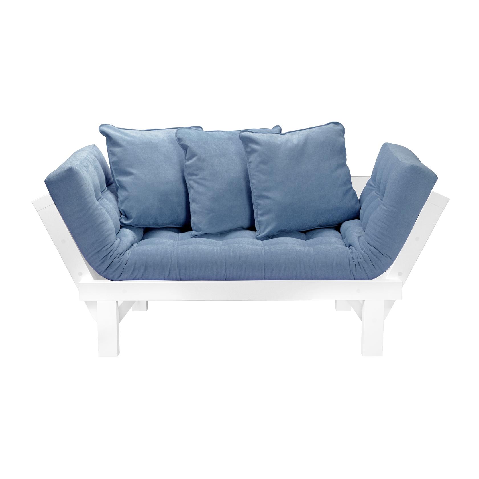 Кушетка AS Санди 158x77x61 белый/голубой кушетки