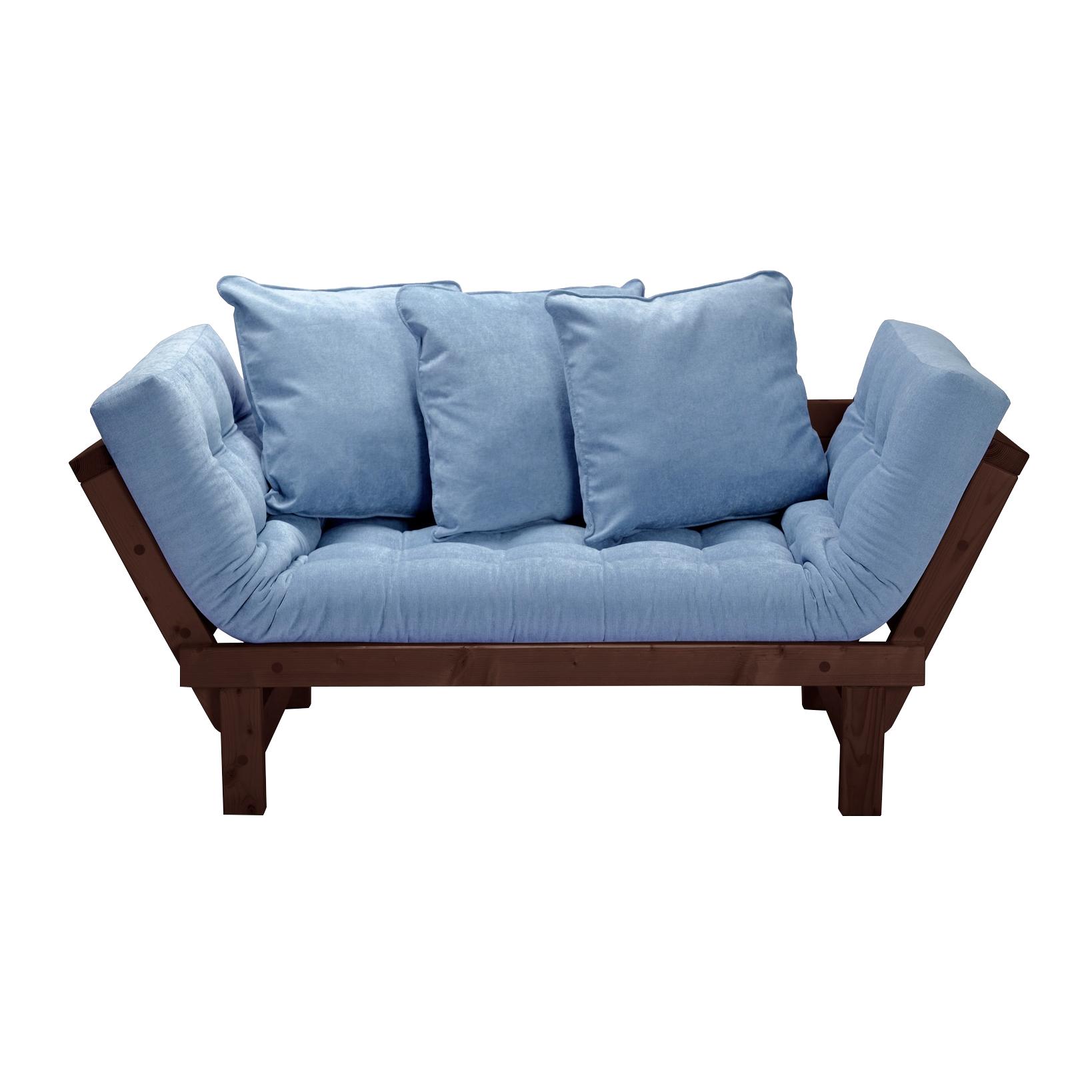 Кушетка AS Санди 158x77x61 венге/голубой фото