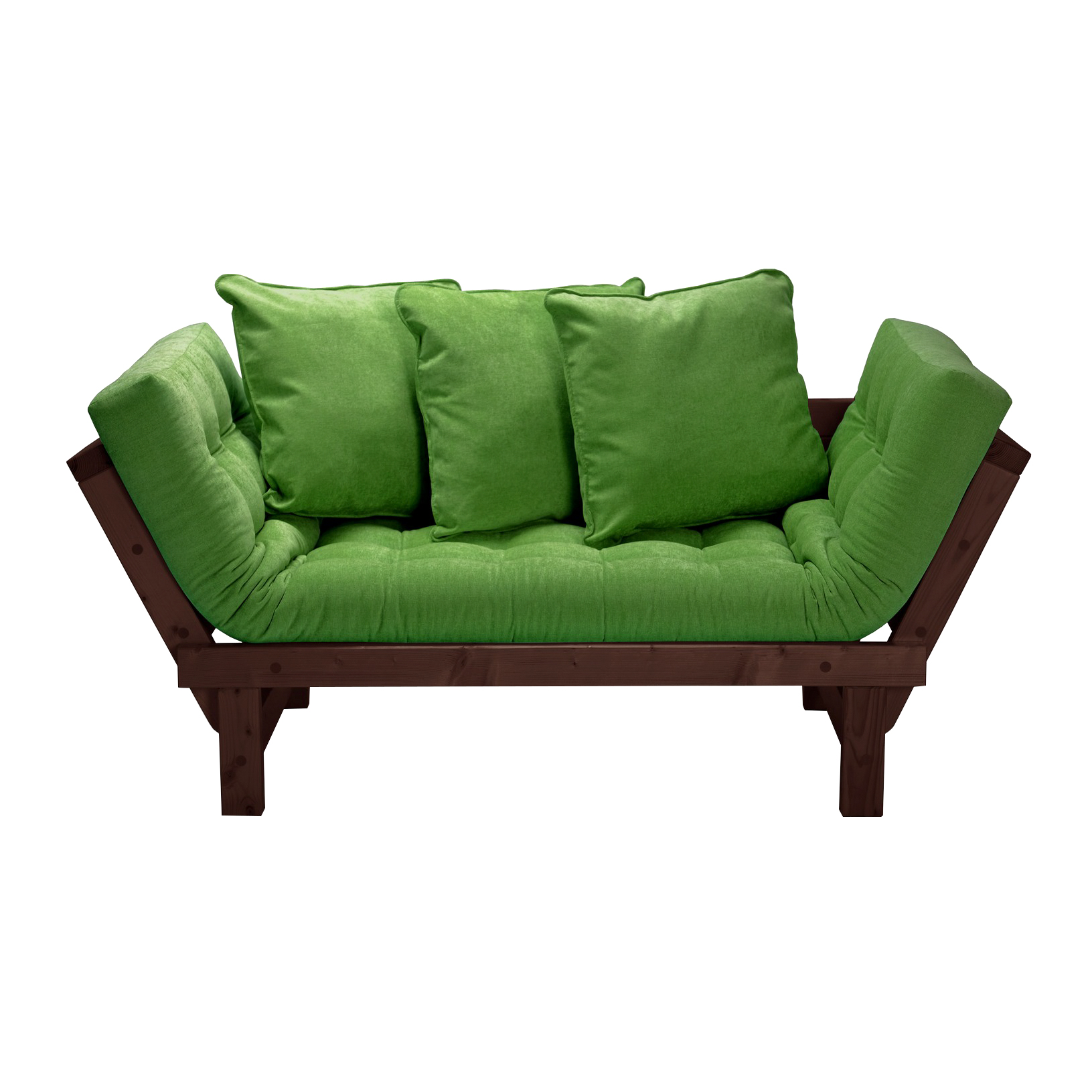 Кушетка AS Санди 158x77x61 венге/зеленый кушетки