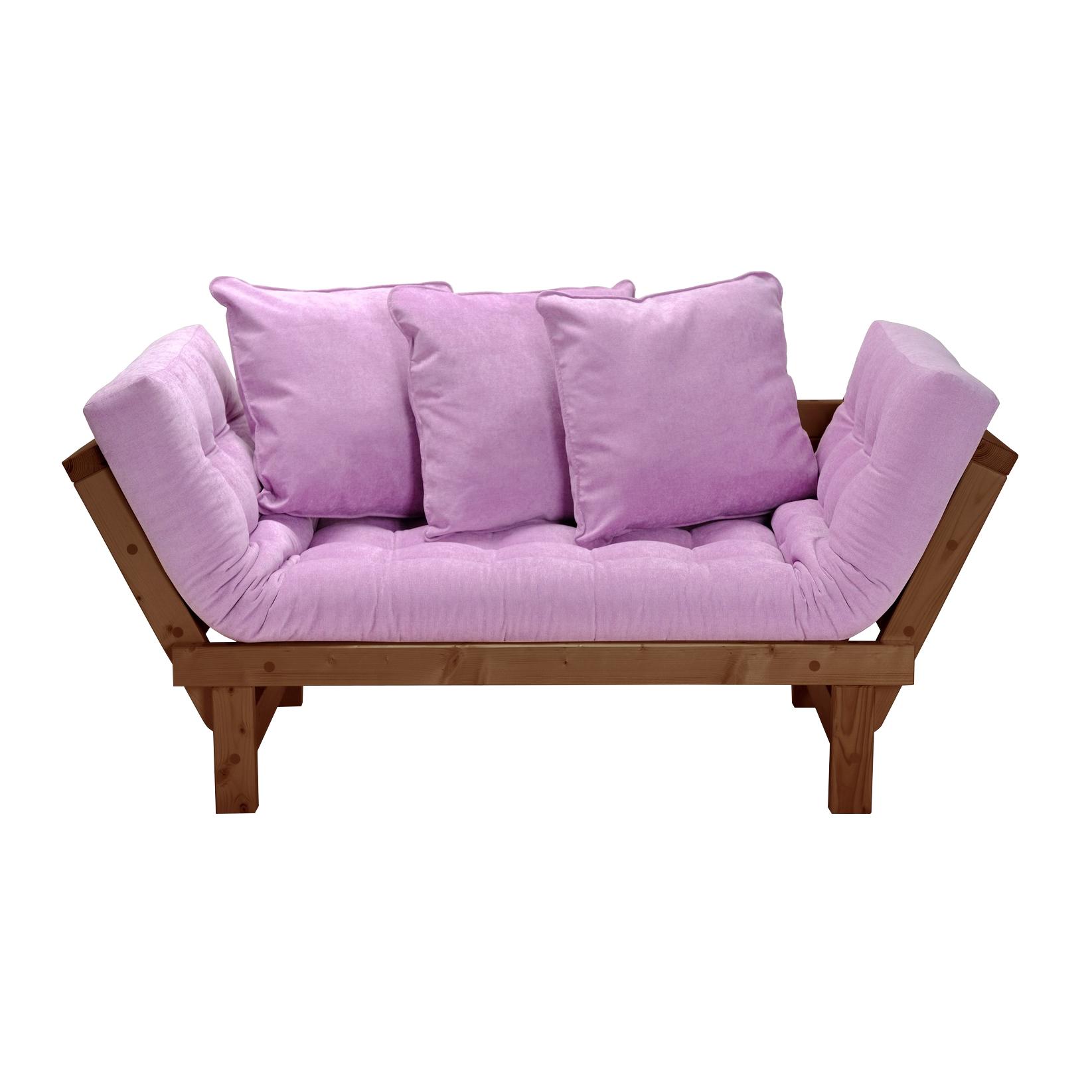 Кушетка AS Санди 158x77x61 орех/розовый фото