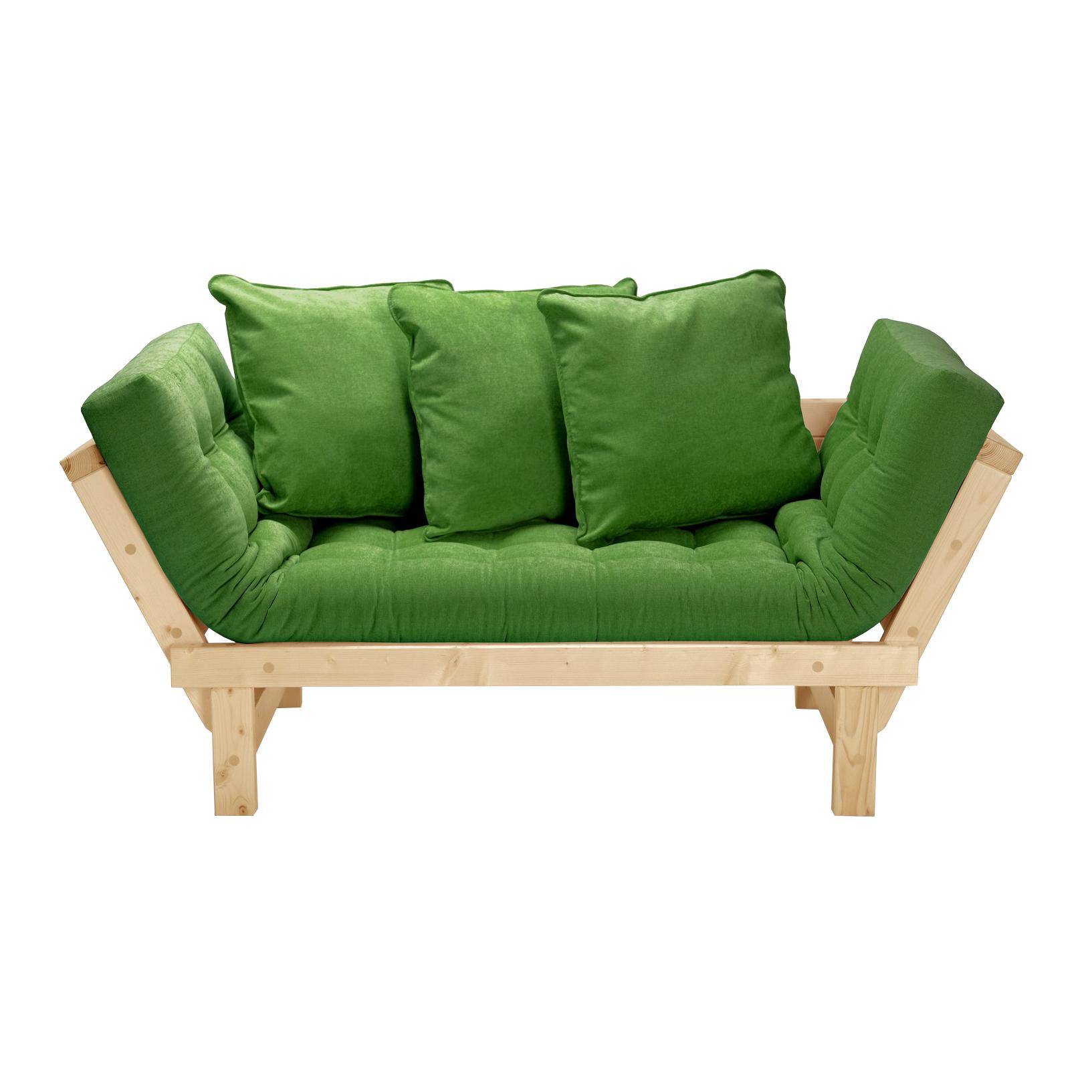 Кушетка AS Санди 158x77x61 сосна/зеленый кушетки