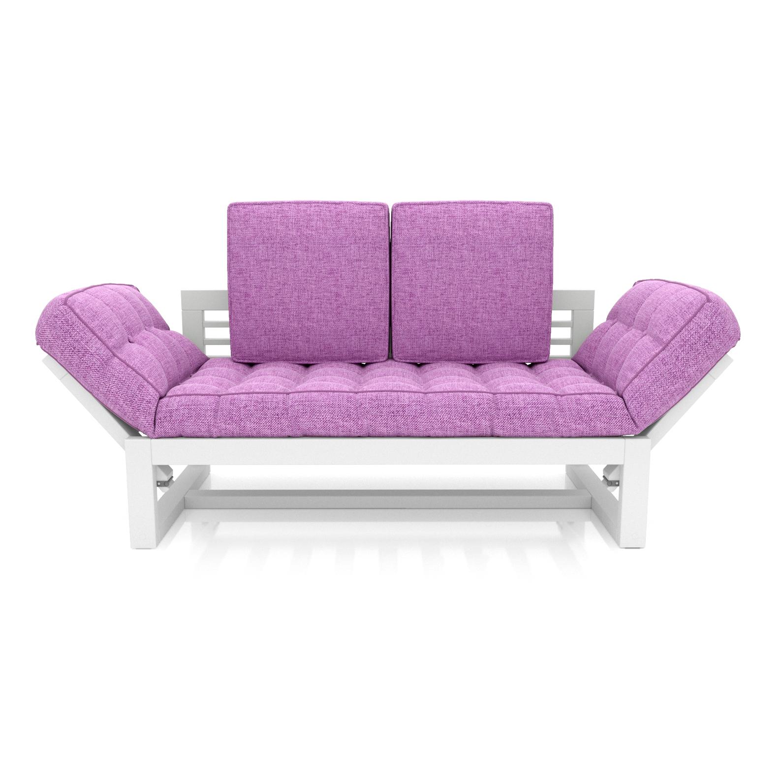 Кушетка AS Бекка 170x76x65 белый/фиолетовый фото