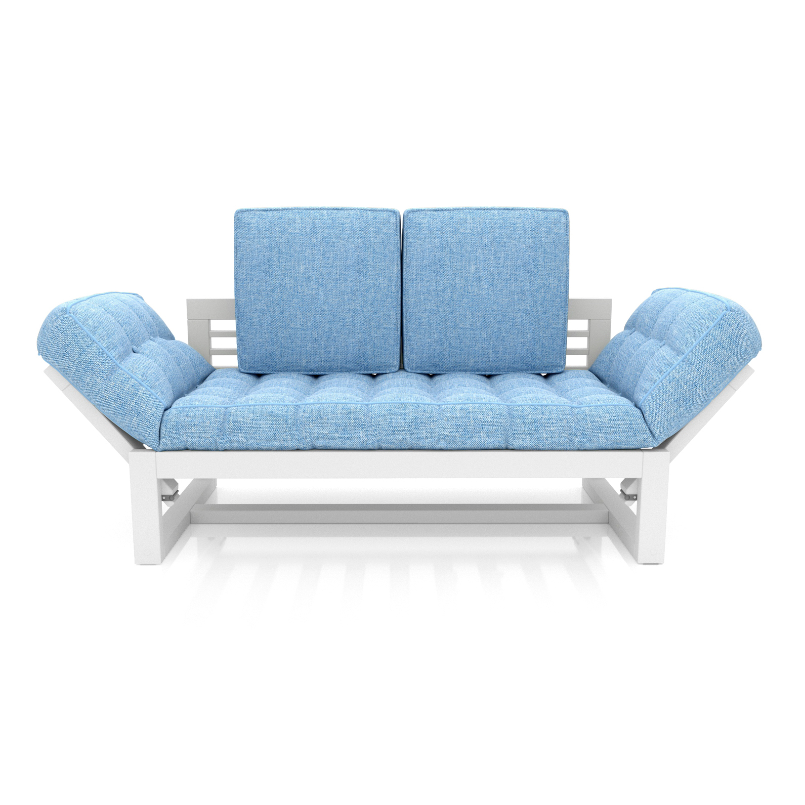 Кушетка AS Бекка 170x76x65 белый/голубой фото