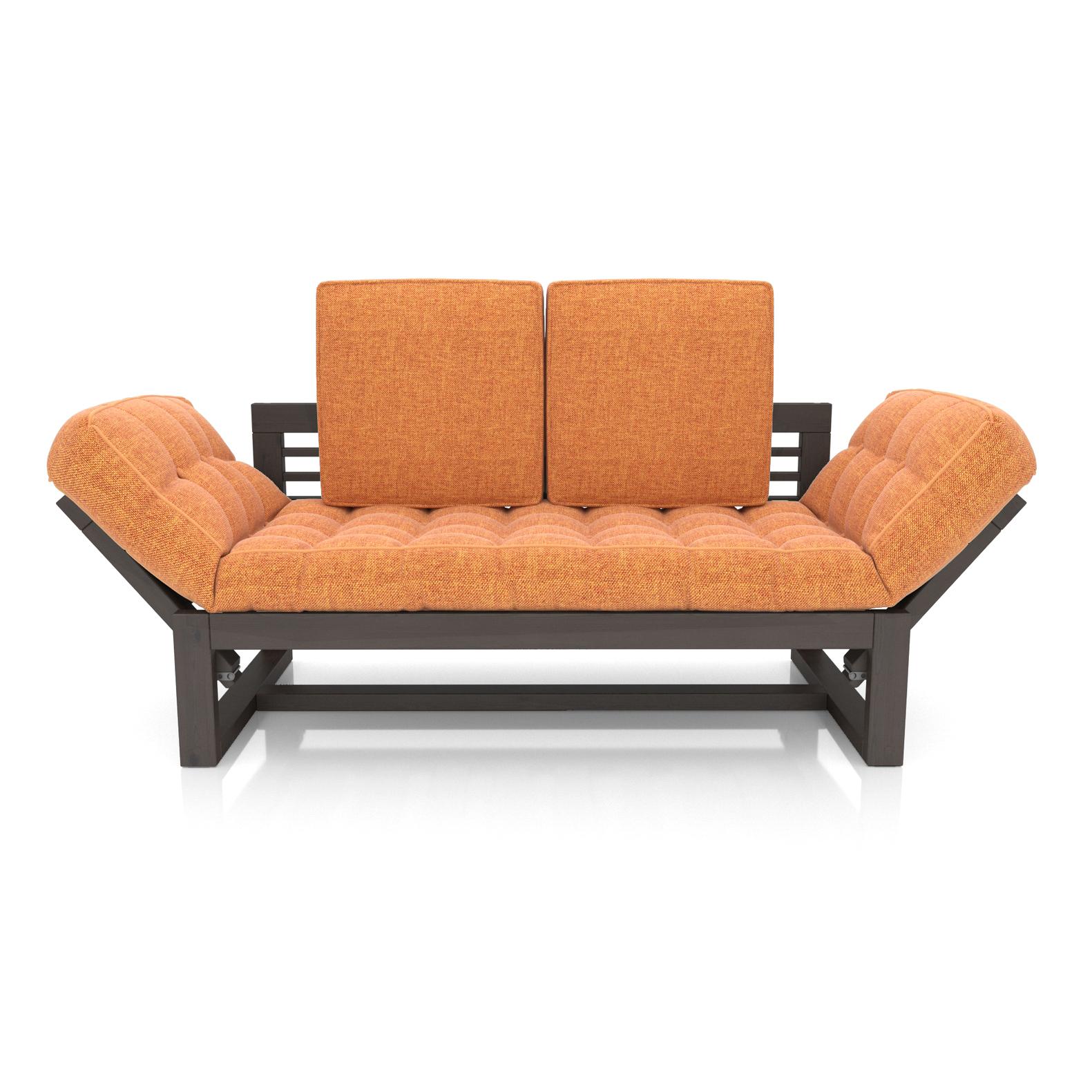 Кушетка AS Бекка 170x76x65 венге/оранжевый фото