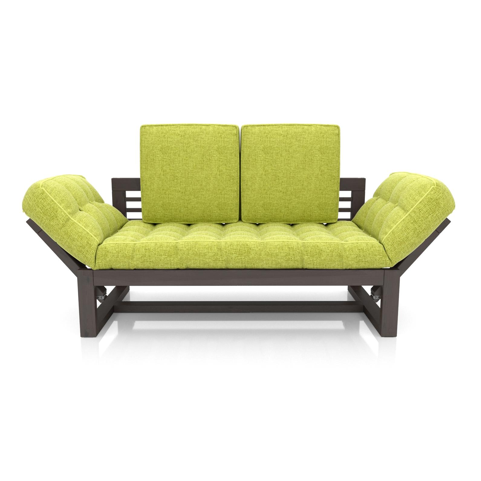 Кушетка AS Бекка 170x76x65 венге/зеленый