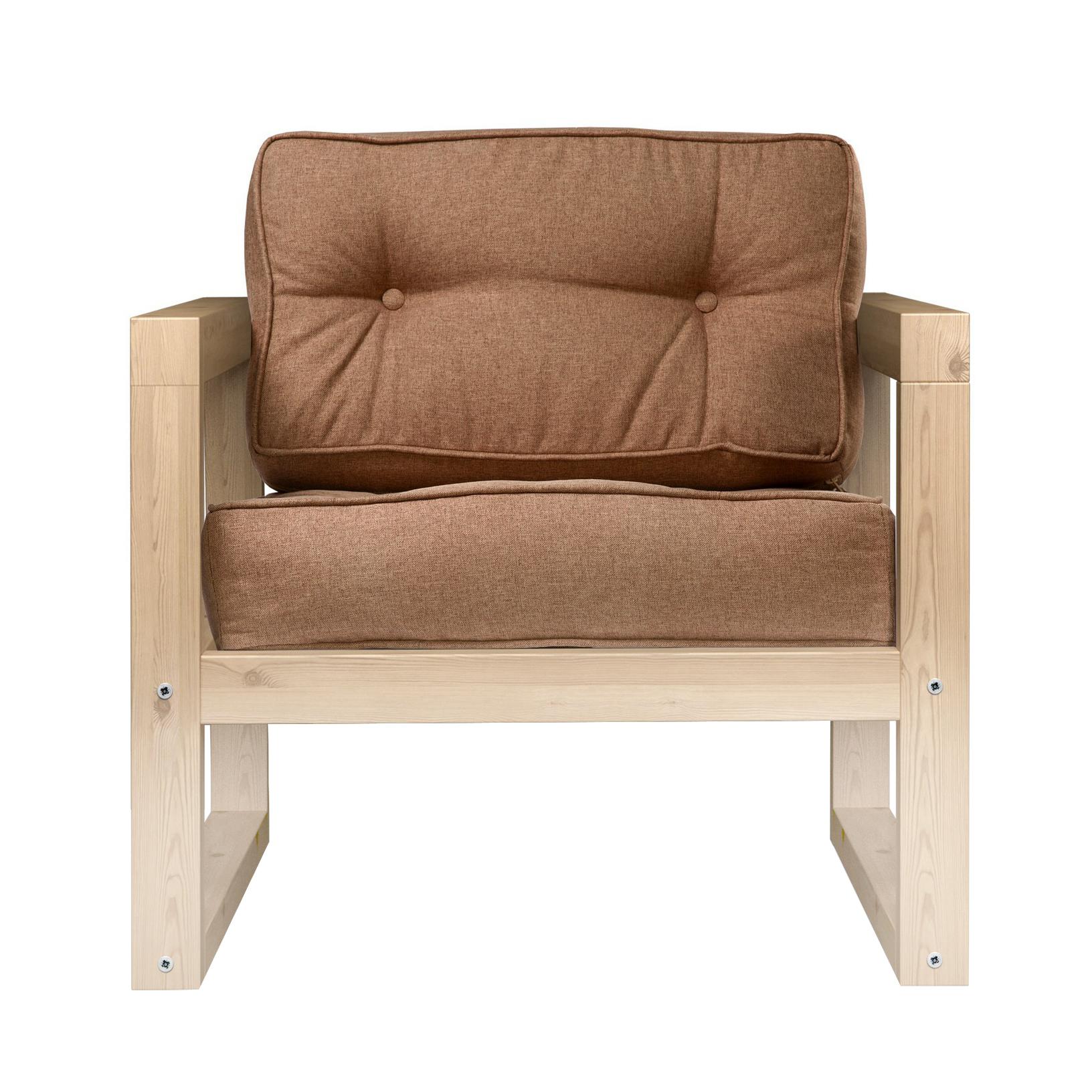 Кресло AS Алекс 80x73x65 сосна/коричневый фото