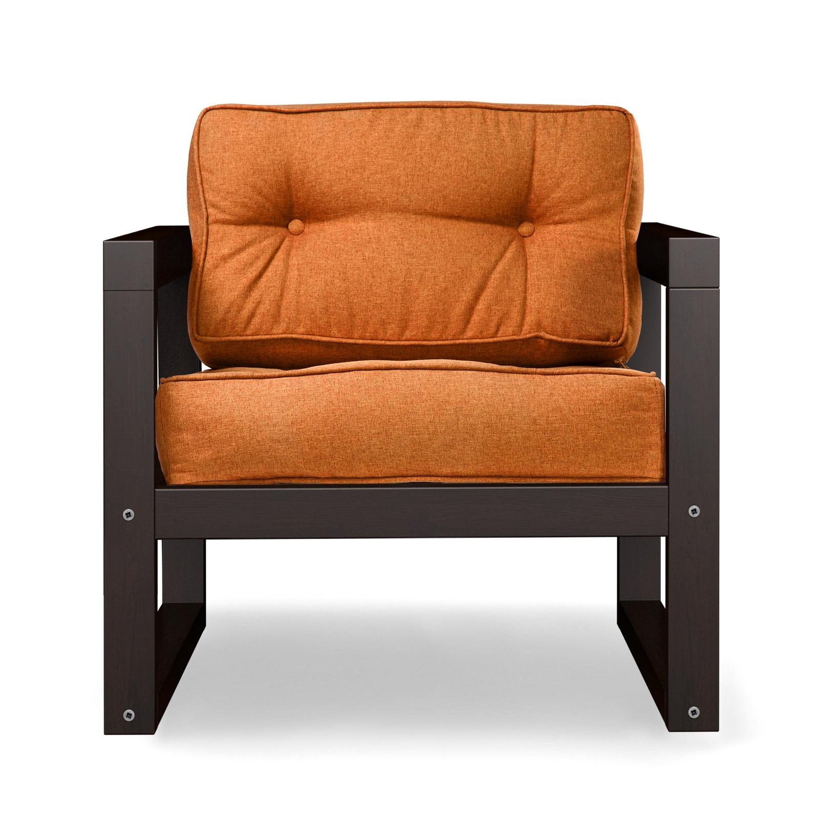 Кресло AS Алекс 80x73x65 венге/оранжевый фото