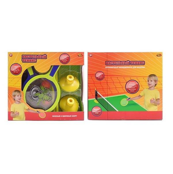Фото - Набор для игры в настольный теннис Abtoys /сетка ракетки шарики/ 30х26,5х7,5 см набор abtoys бадминтон и теннис s 00176