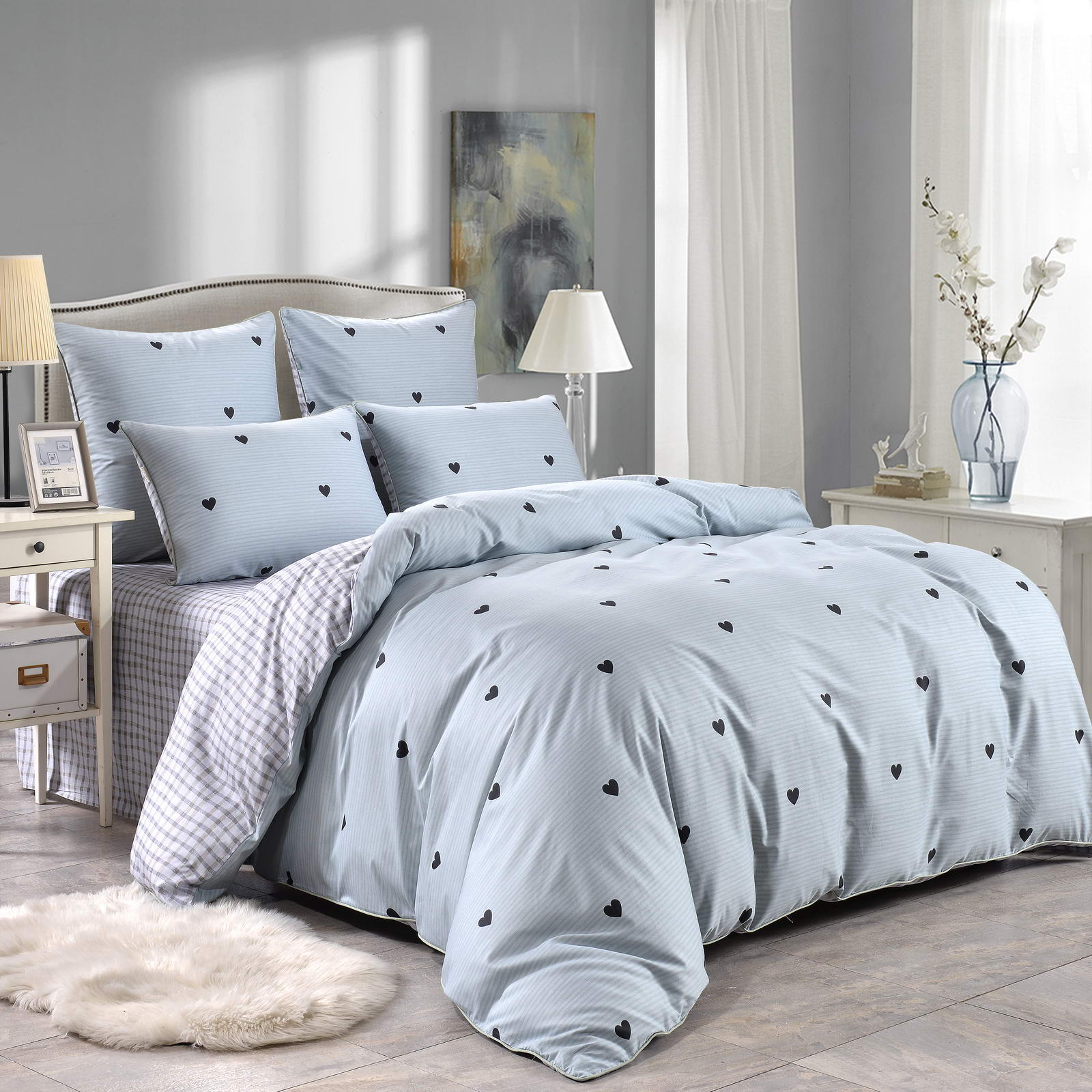 Комплект постельного белья Sofi De Marko Лайки Двуспальный евро (ЕВРО-5334)