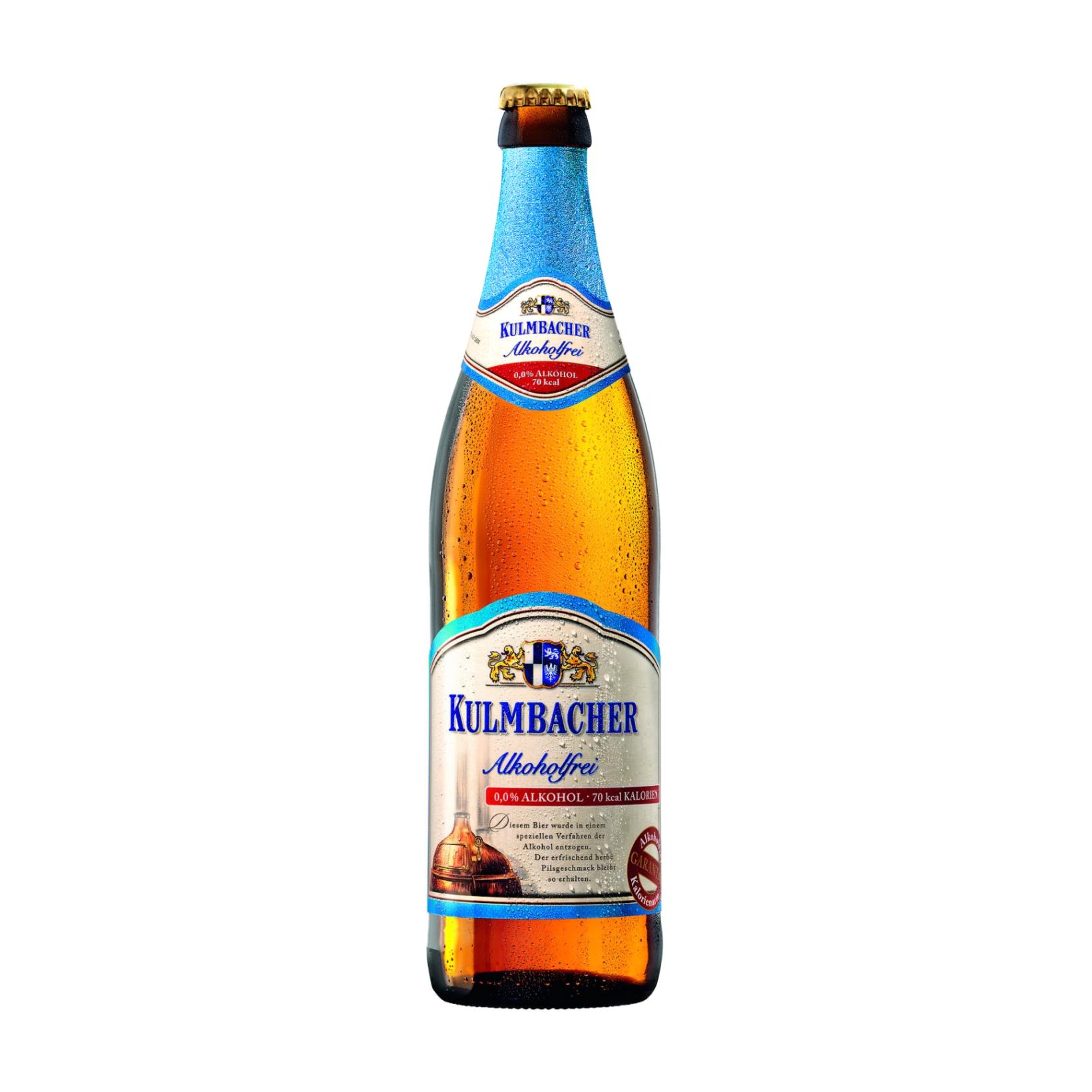 вино безалкогольное lussory premium белое полусухое chardonnay 0 75 л Пиво Kulmbacher безалкогольное, светлое фильтрованное 0,5 л