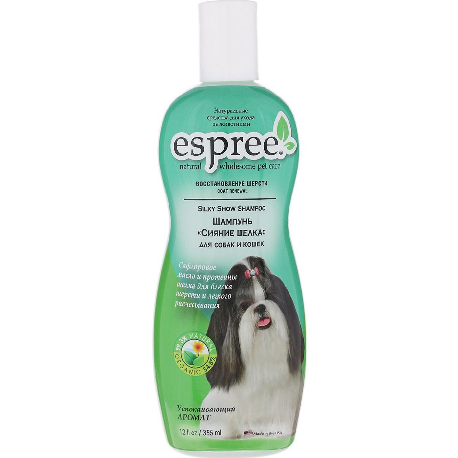 Шампунь для животных Espree CR Silky Show Сияние шелка 355 мл.