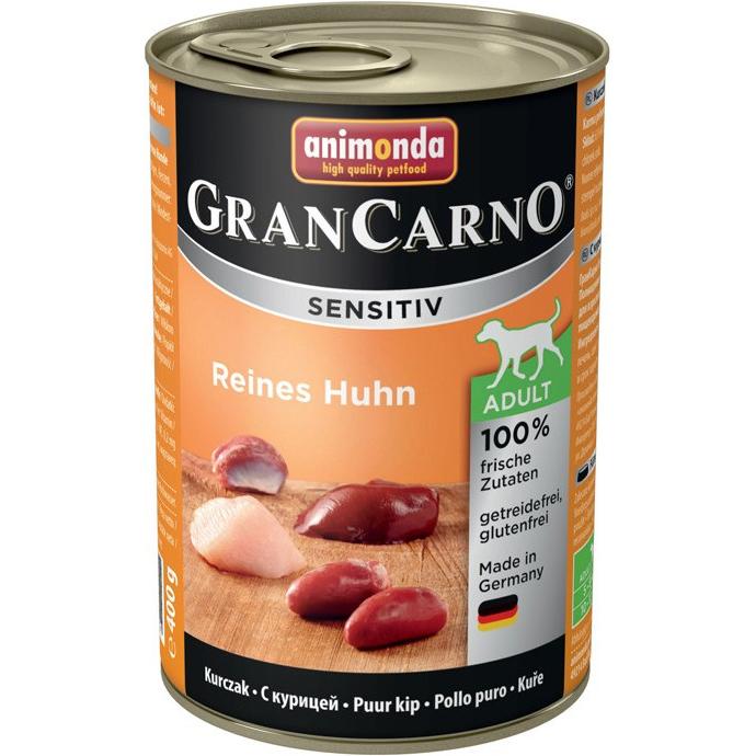 Корм для собак Animonda GranCarno Sensitiv c курицей 400 г корм для собак animonda grancarno sensitiv с чувствит пищеварением ягненок картофель 400г