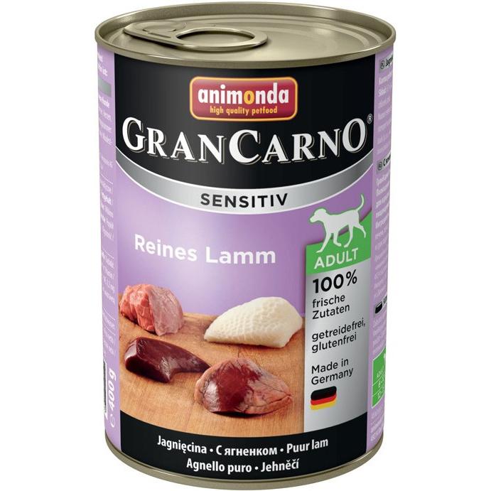 Корм для собак Animonda GranCarno Sensitiv c ягненком 400 г корм для собак animonda grancarno sensitiv с чувствит пищеварением ягненок картофель 400г