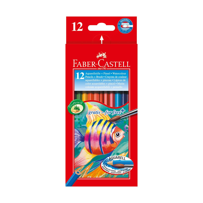 Карандаши акварельные Faber-castell 12 цветов + кисть