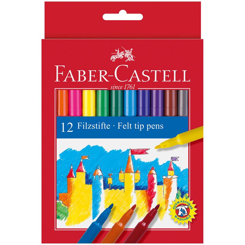 Фломастеры смываемые Faber-castell 12 цветов фото