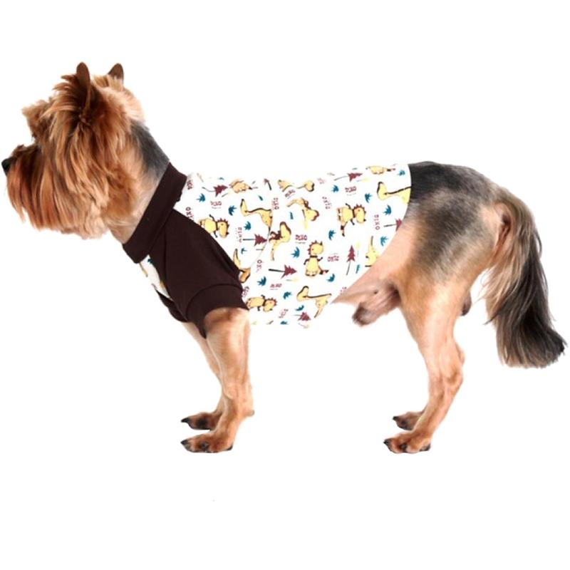 Футболка для собак YORIKI Дино унисекс размер М фото