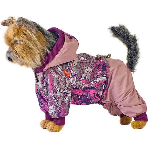 Комбинезон для собак HAPPY PUPPY Сити розовый 4 32 см.