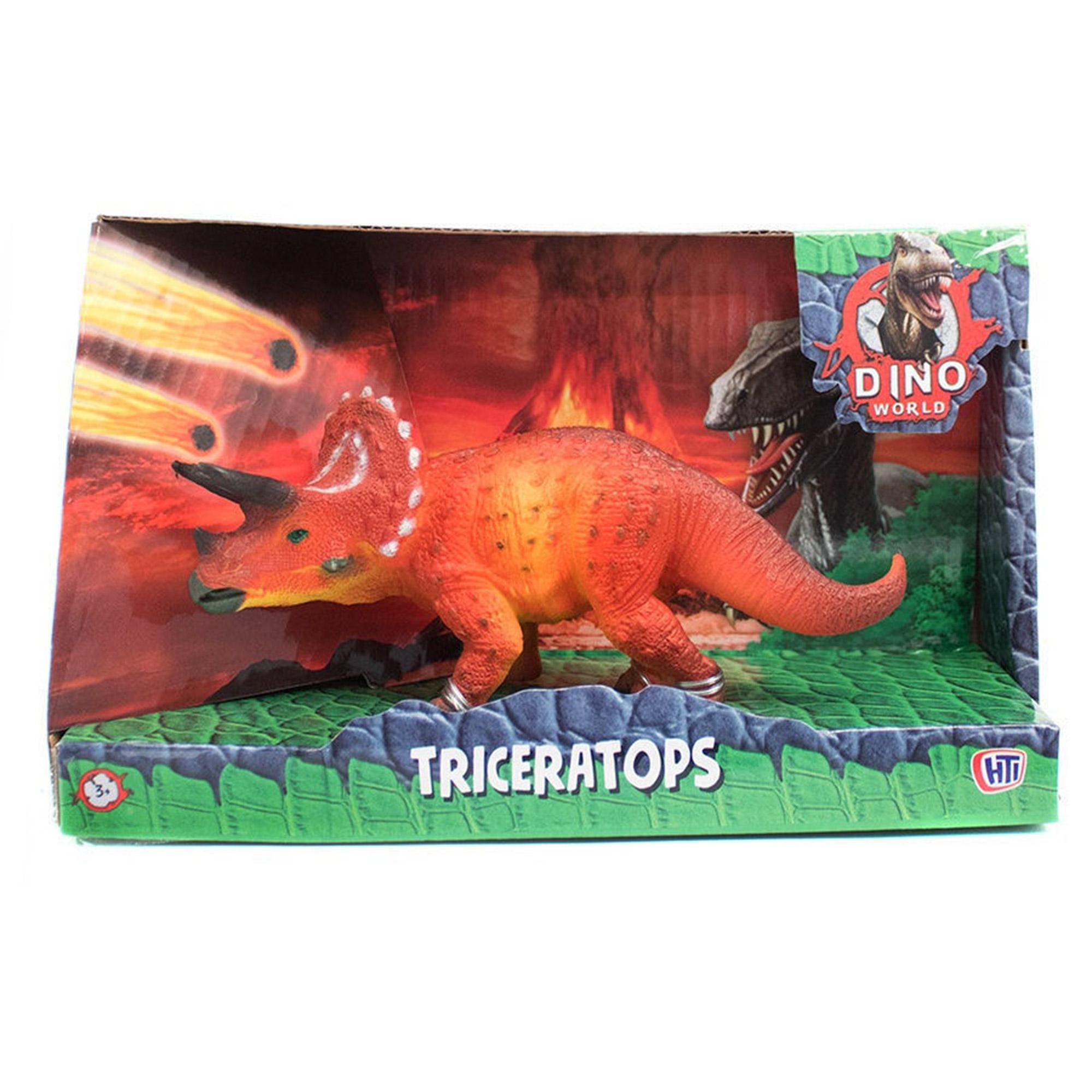 Фигурка динозавра HTI DINO WORLD Трицератопс 16 см фигурка hti dino world аллозавр 1374171 unib