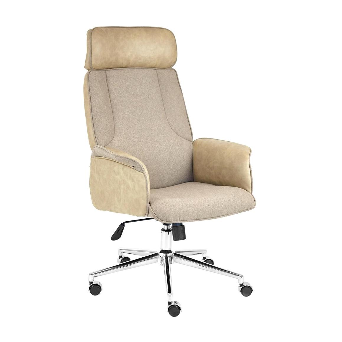 Кресло компьютерное TC коричневый/бежевый 128х45х47 см кресло tc натуральный бежевый 65х56х77 см