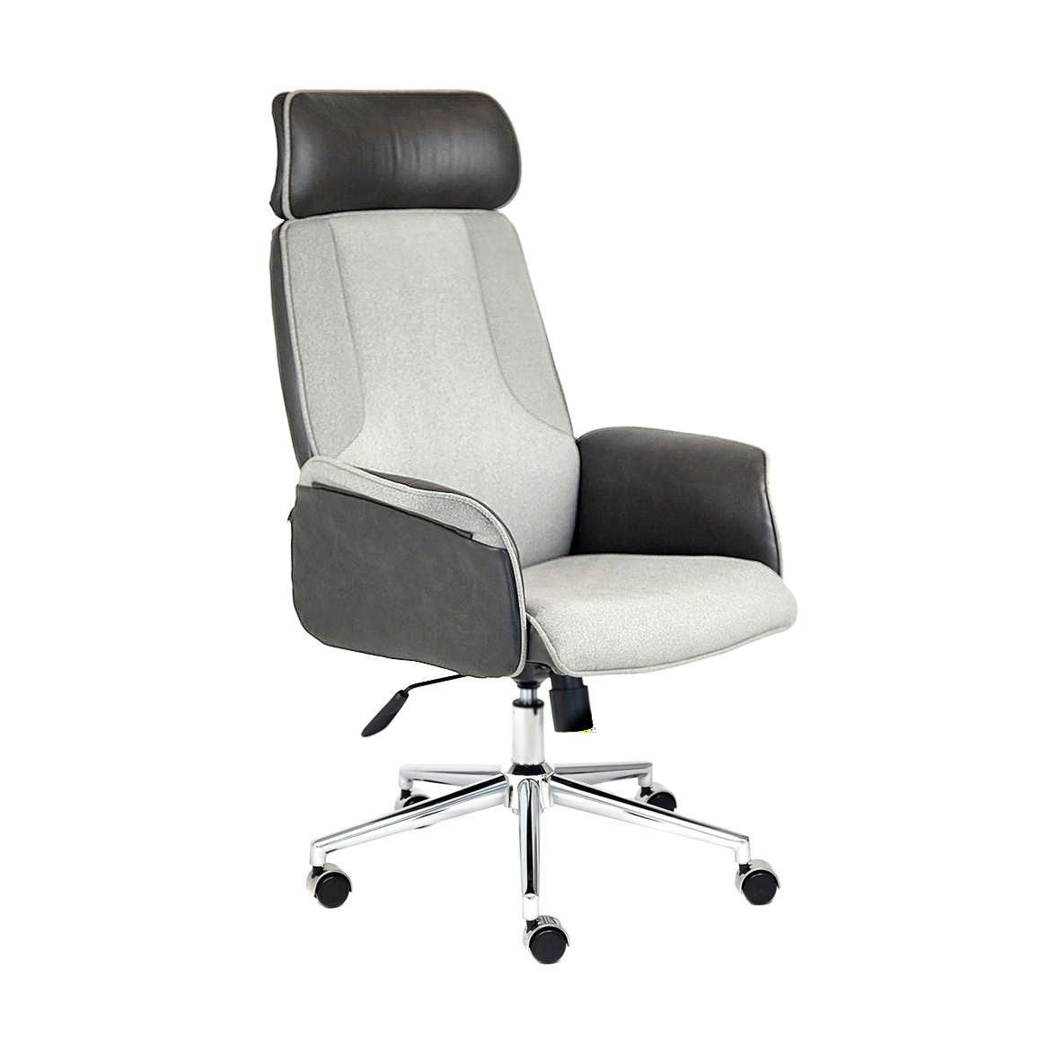 Кресло компьютерное TC серый/черный 128х45х47 см фото