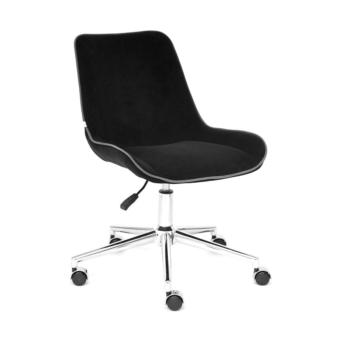 Кресло компьютерное TC флок чёрный 97х52х40 см компьютерное кресло turin компьютерное кресло