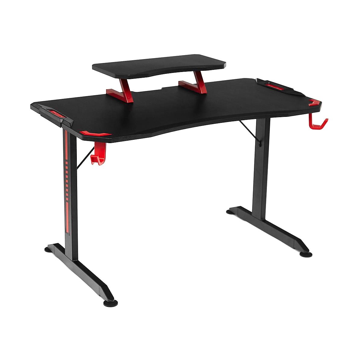 Стол компьютерный TC черно-красный 120x65x86,5 см