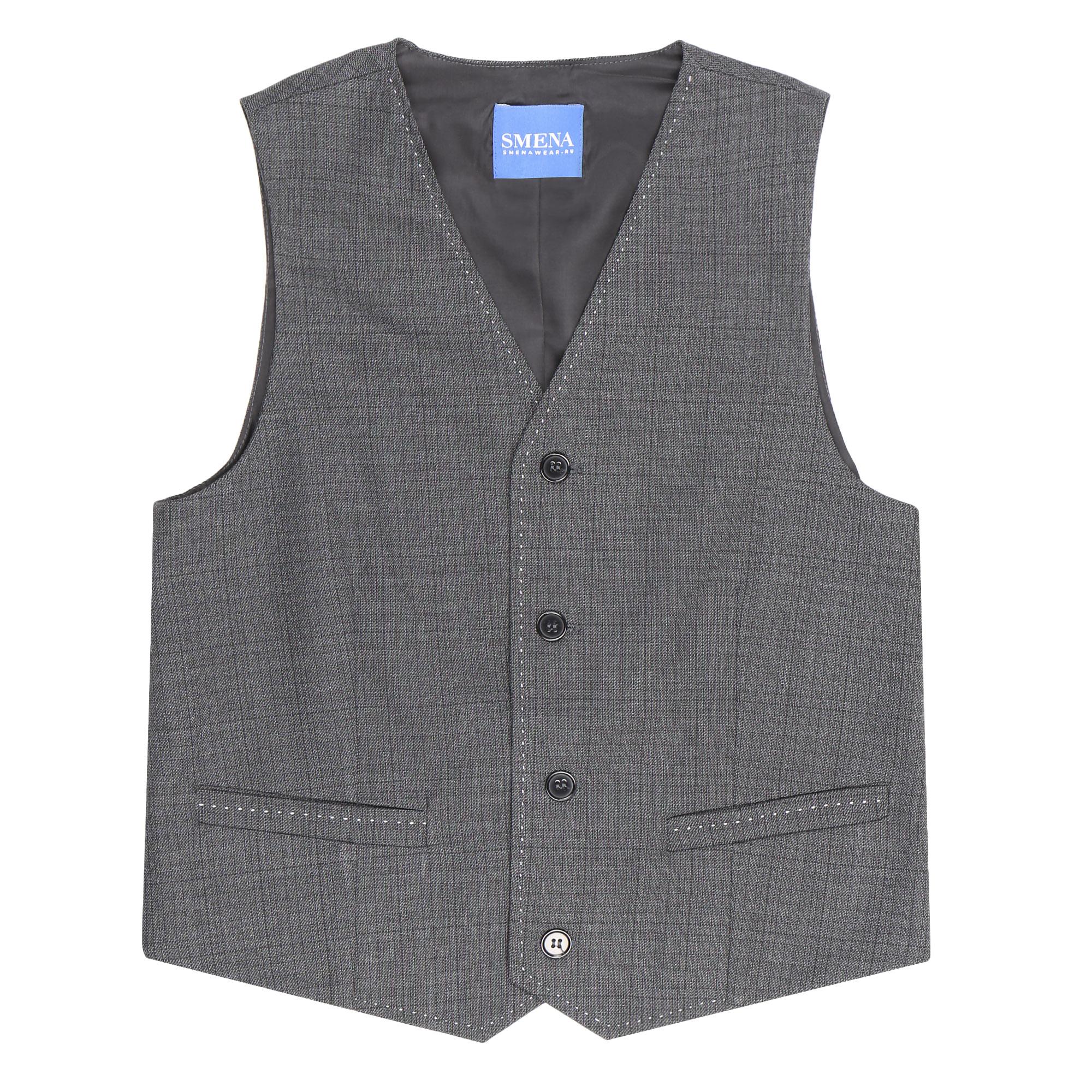 Фото - Жакет школьный для мальчиков Смена серый 158/80 платье смена размер 158 80 черный